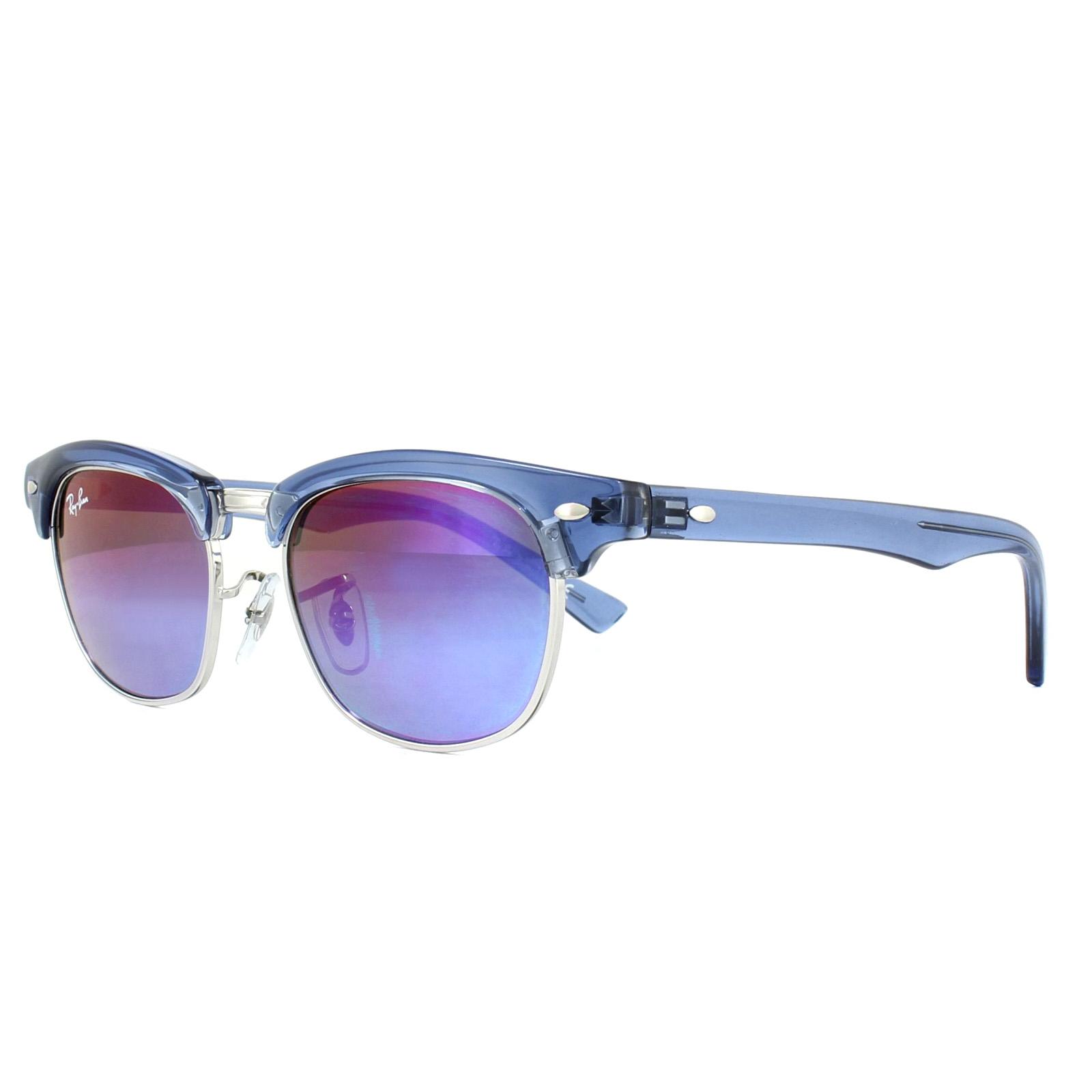 a4466e66780 Sentinel Ray-Ban Junior Sunglasses 9050S 7037B1 Blue Blue Violet Gradient  Mirror 47mm
