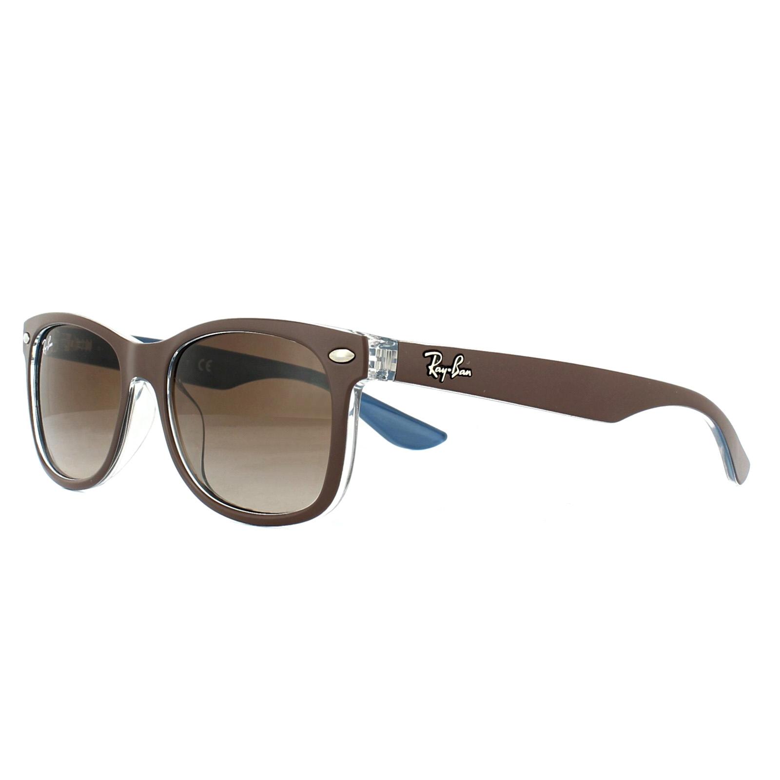 Sentinel Ray-Ban Junior Sunglasses New Wayfarer 9052S 703513 Brown BLue  Brown Gradient 47 7af8fb58bb