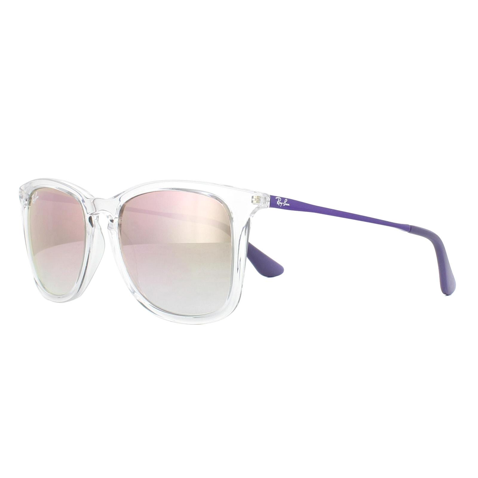 659116d8ccb Sentinel Ray-Ban Junior Sunglasses 9063S 7030B9 Clear VIolet Copper Gradient  Mirror