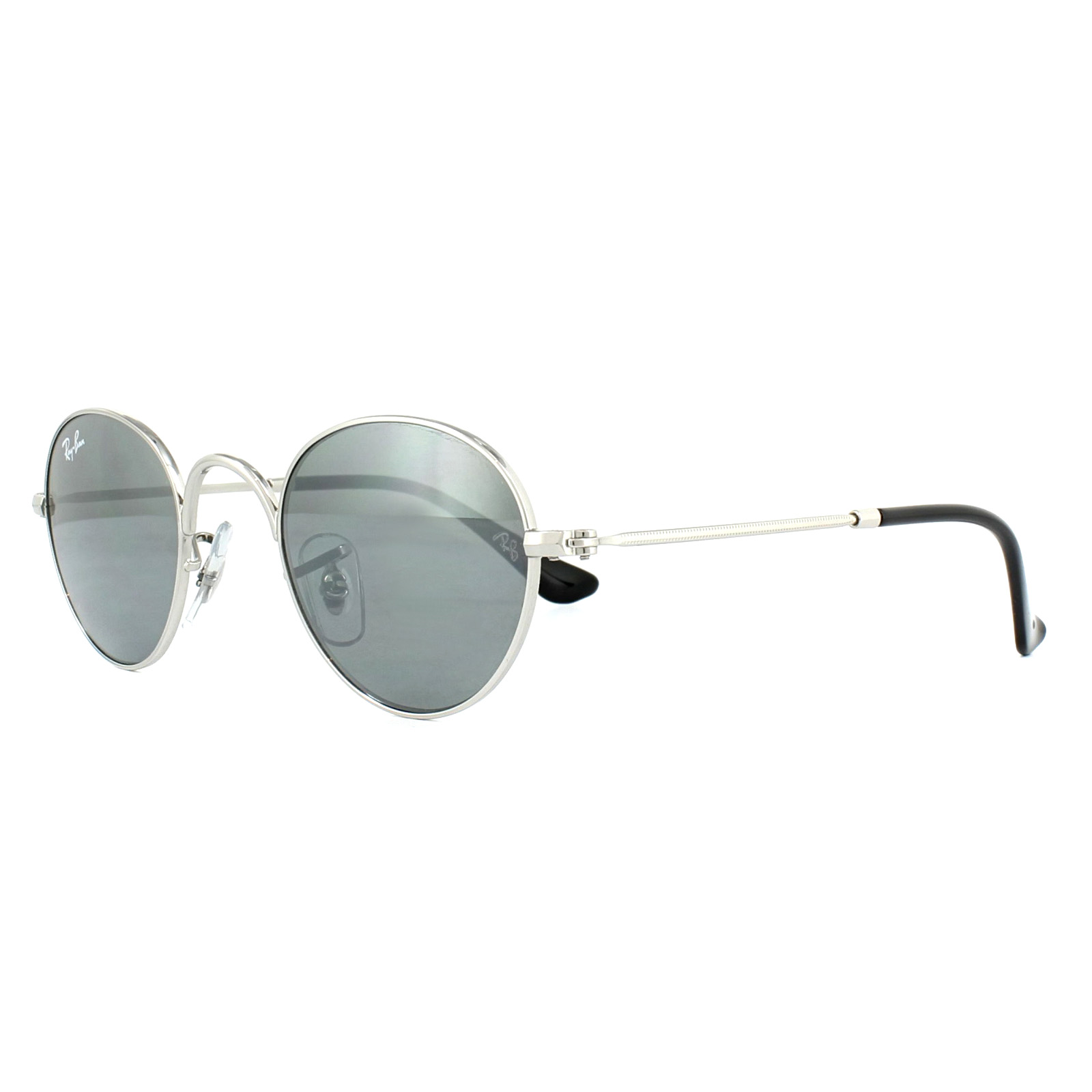 c0e76467040 Ray-Ban Junior Sunglasses 9537S 212 6G Silver Grey Mirror ...