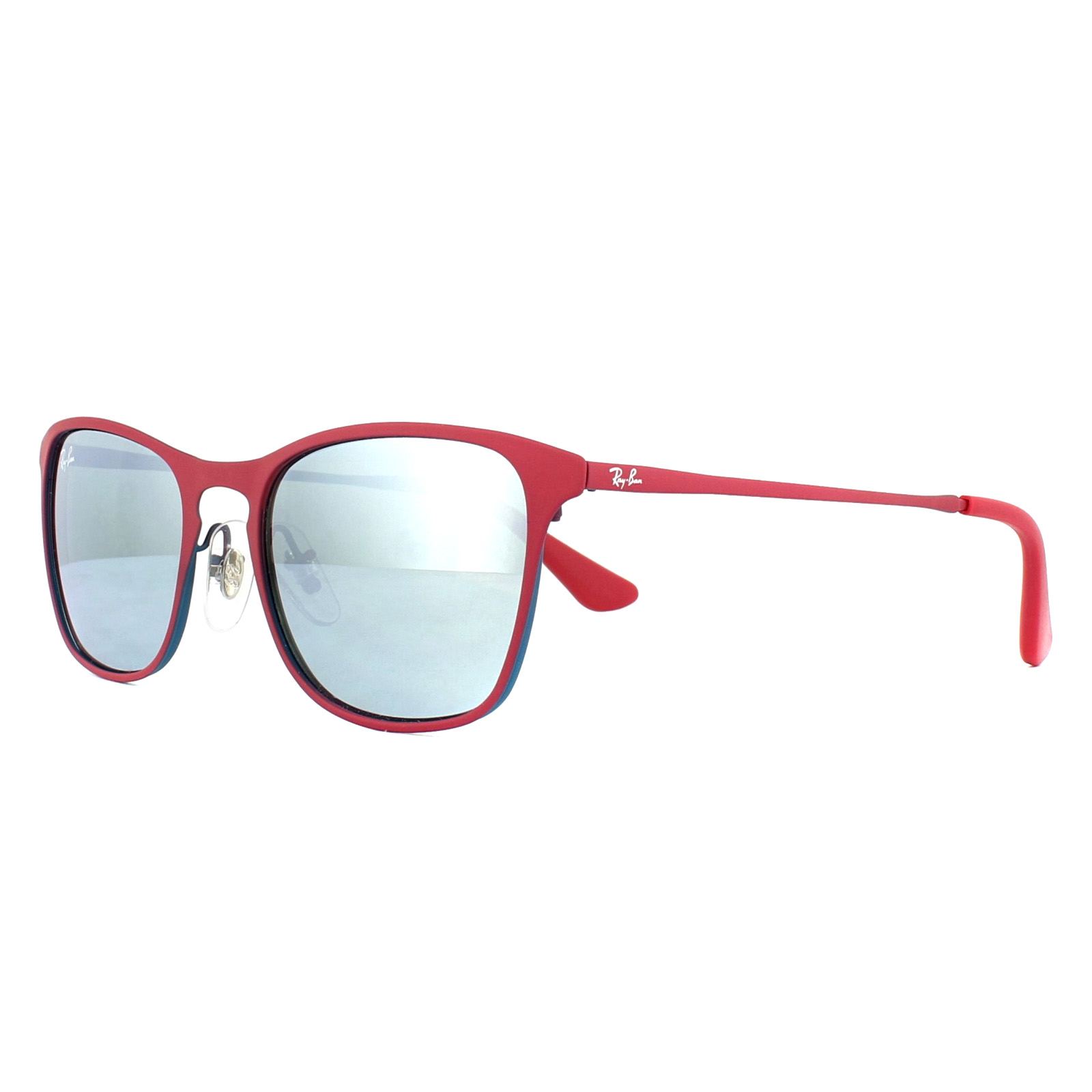 ae5077f7394 Ray-Ban Junior Sunglasses 9539S 256 30 Purple Red Silver Mirror