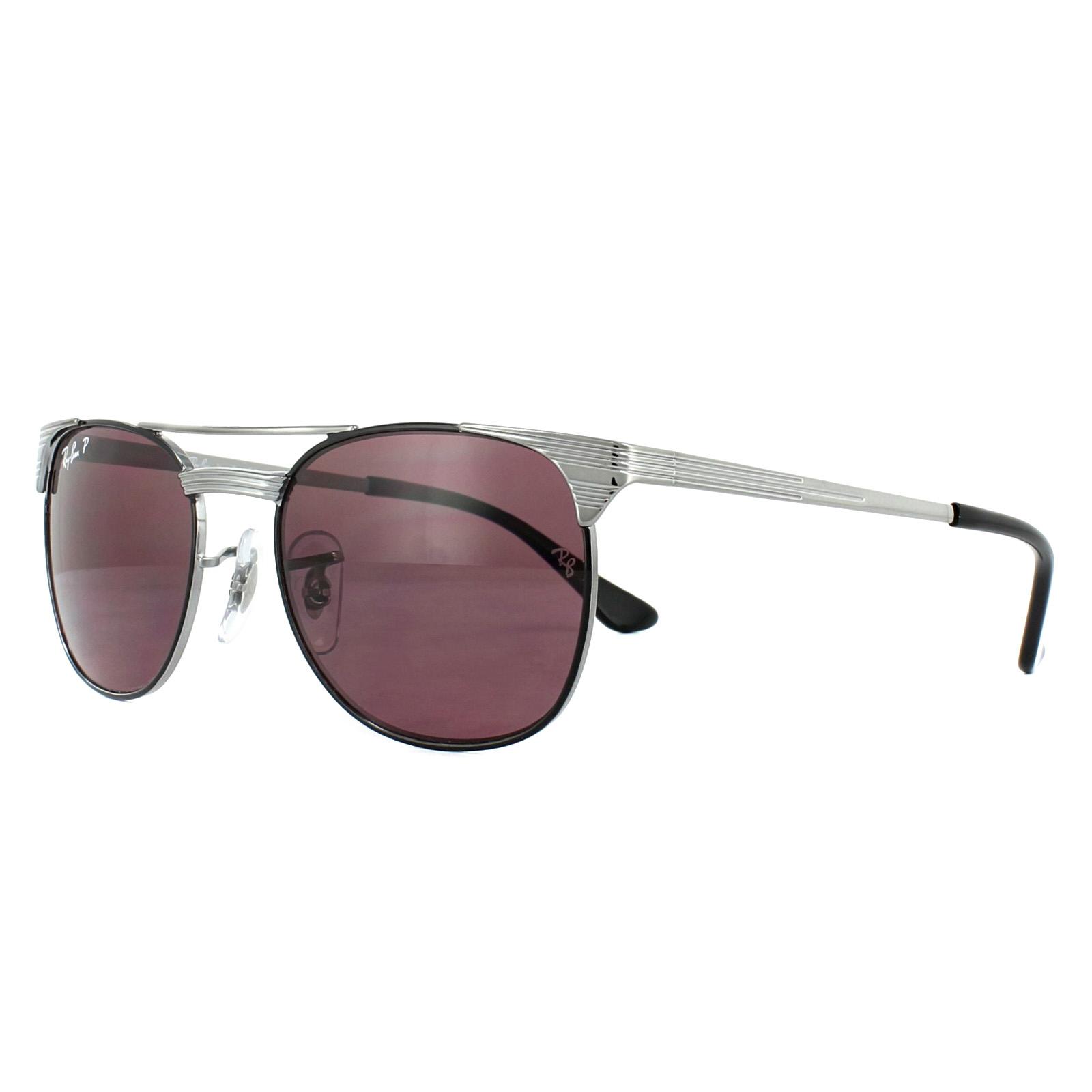 Sentinel Ray-Ban Junior Sunglasses Signet 9540S 259 5Q Gunmetal Black  Violet Polarized L a962161203fc