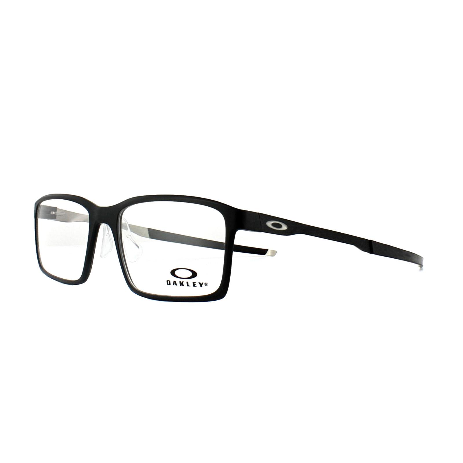 c8ae115fb6 Sentinel Oakley Glasses Frames Steel Line S OX8097-01 Satin Black 54mm Mens