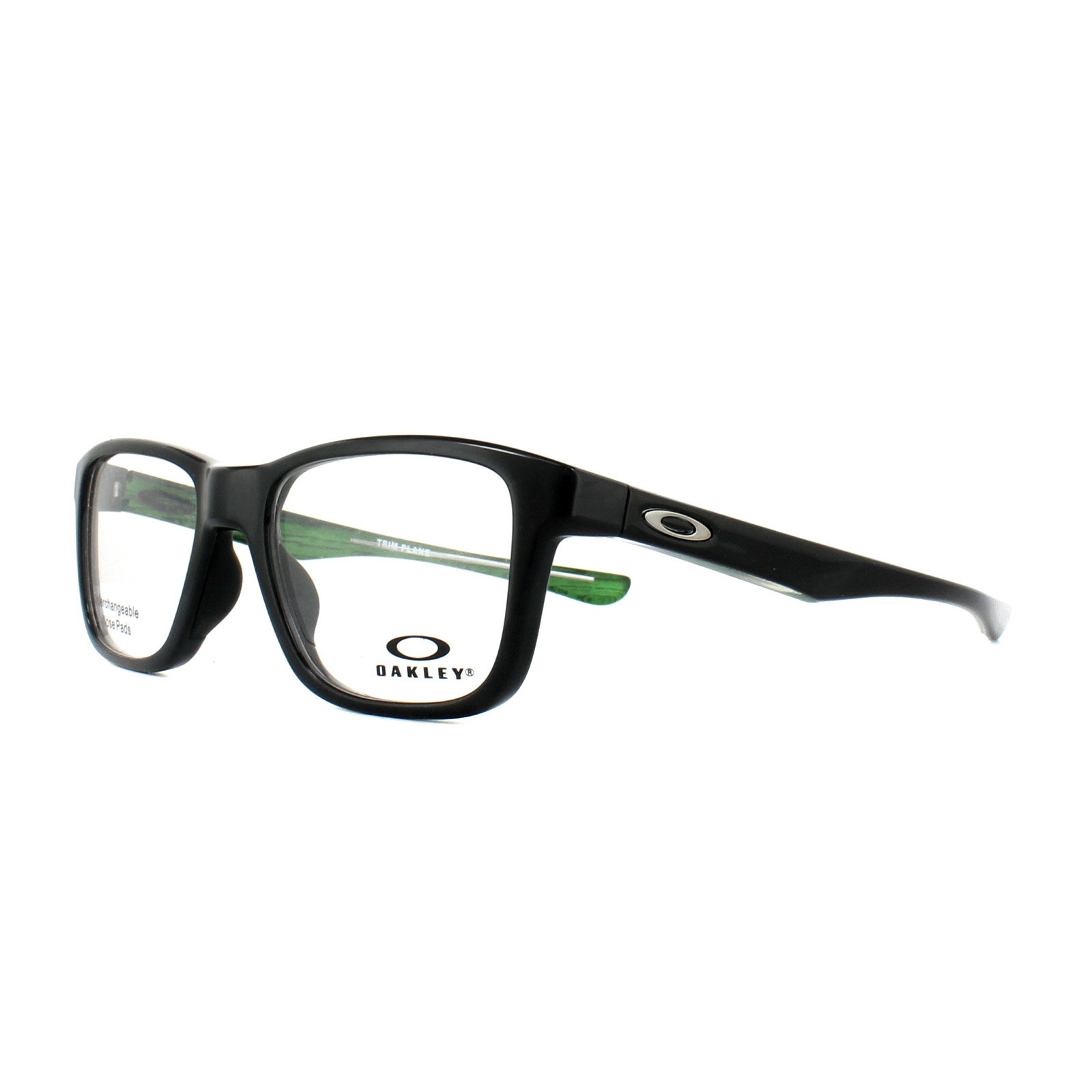 41665e304d Sentinel Oakley Glasses Frames Trim Plane OX8107-02 Polished Black 51mm Mens