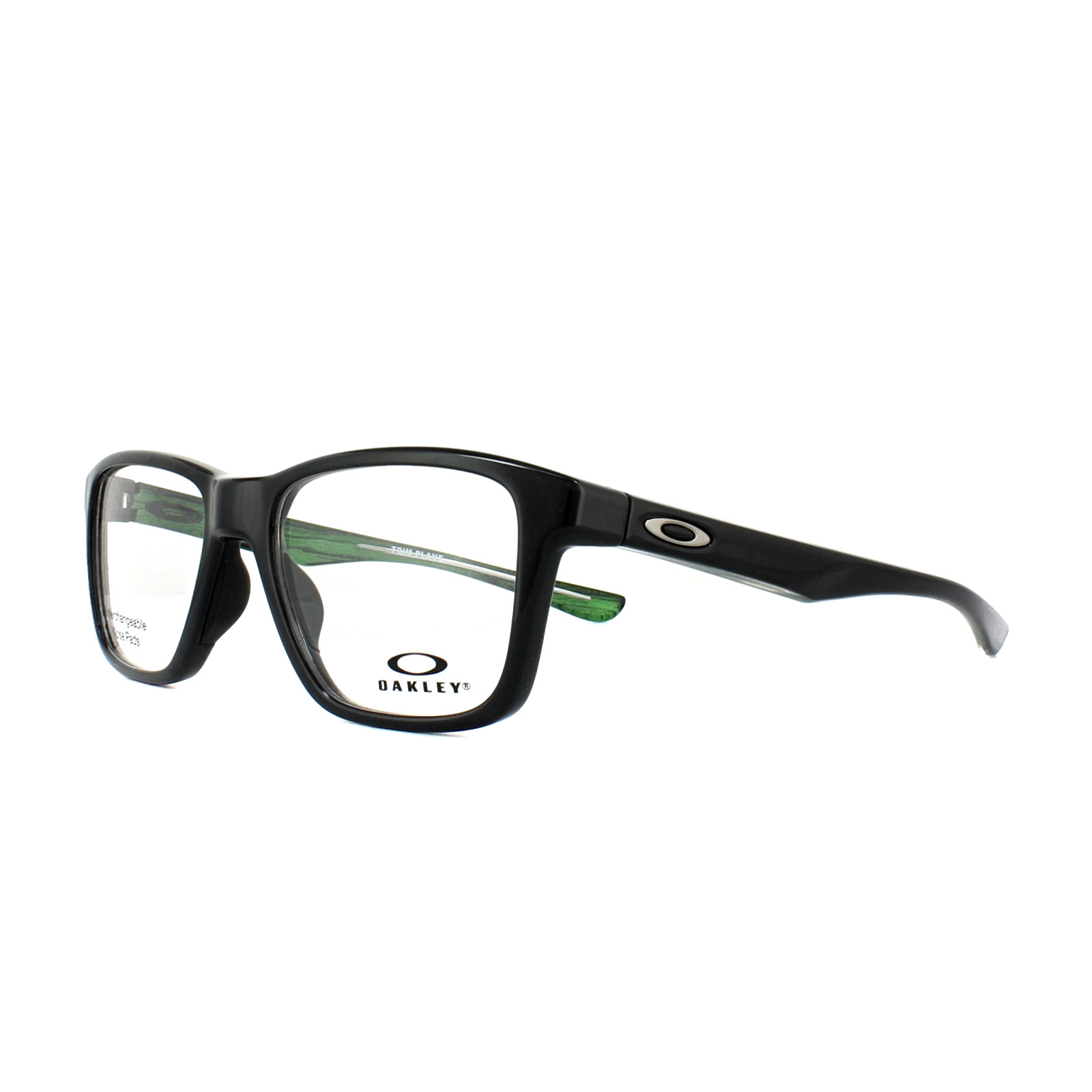 0108a5a0e7 Sentinel Oakley Glasses Frames Trim Plane OX8107-02 Polished Black 53mm Mens