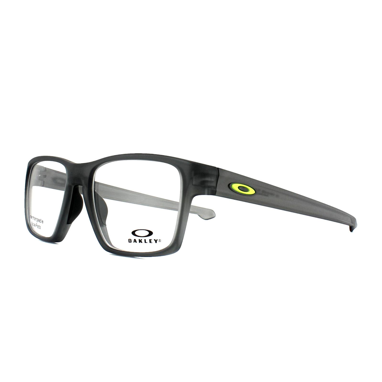 2e76b894f25 Sentinel Oakley Glasses Frames Litebeam OX8140-02 Satin Grey Smoke 55mm Mens