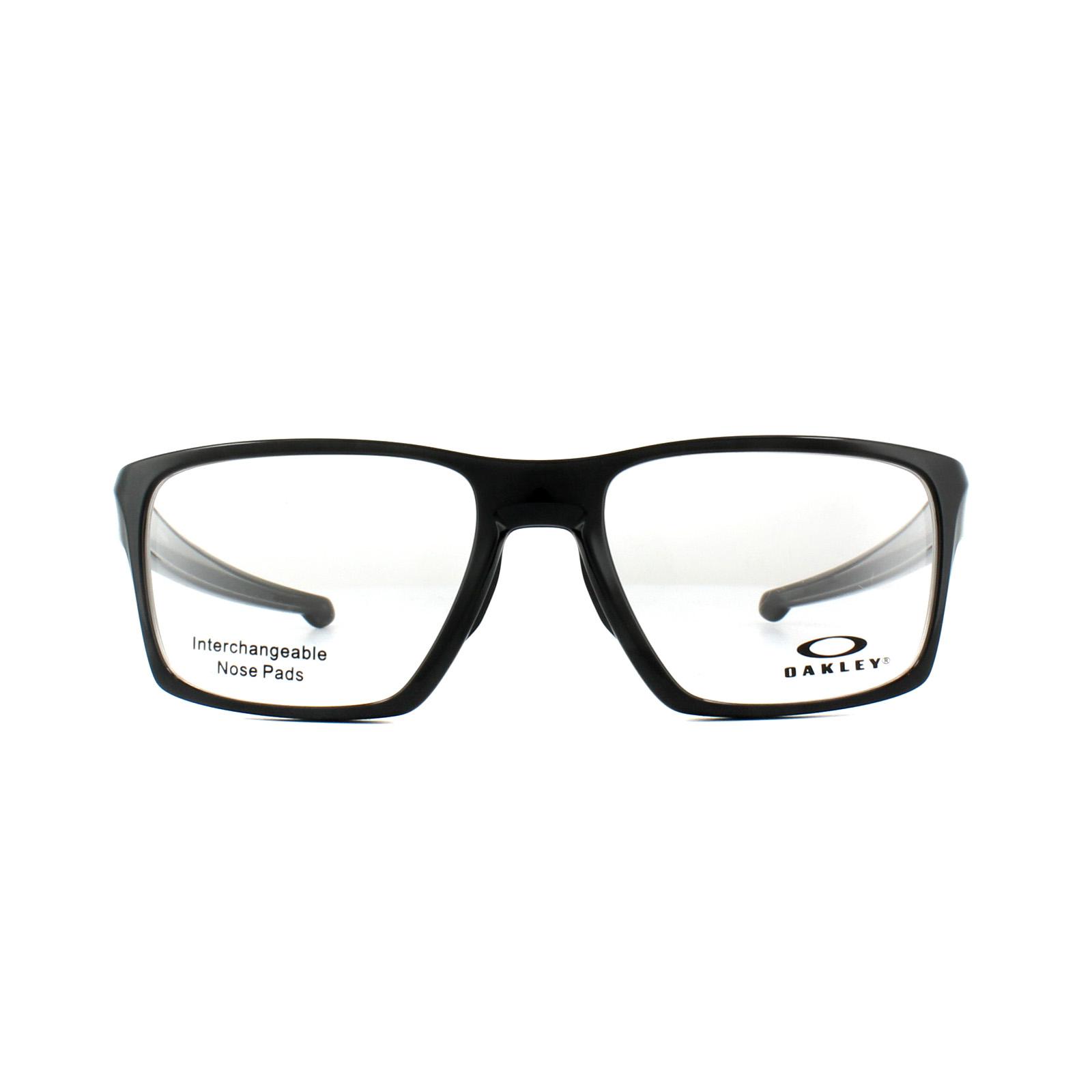 a15423d12af66 Sentinel Oakley Glasses Frames Litebeam OX8140-03 Polished Black 55mm Mens