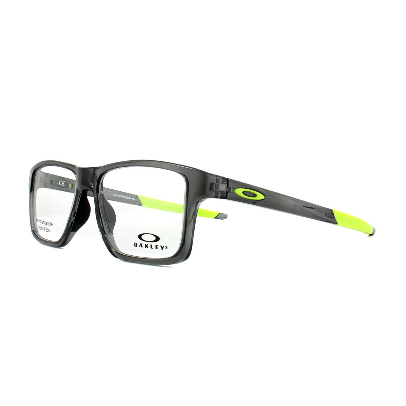 a614091830e Sentinel Oakley Glasses Frames Chamfer Squared OX8143-06 Polished Grey  Smoke 52mm Mens