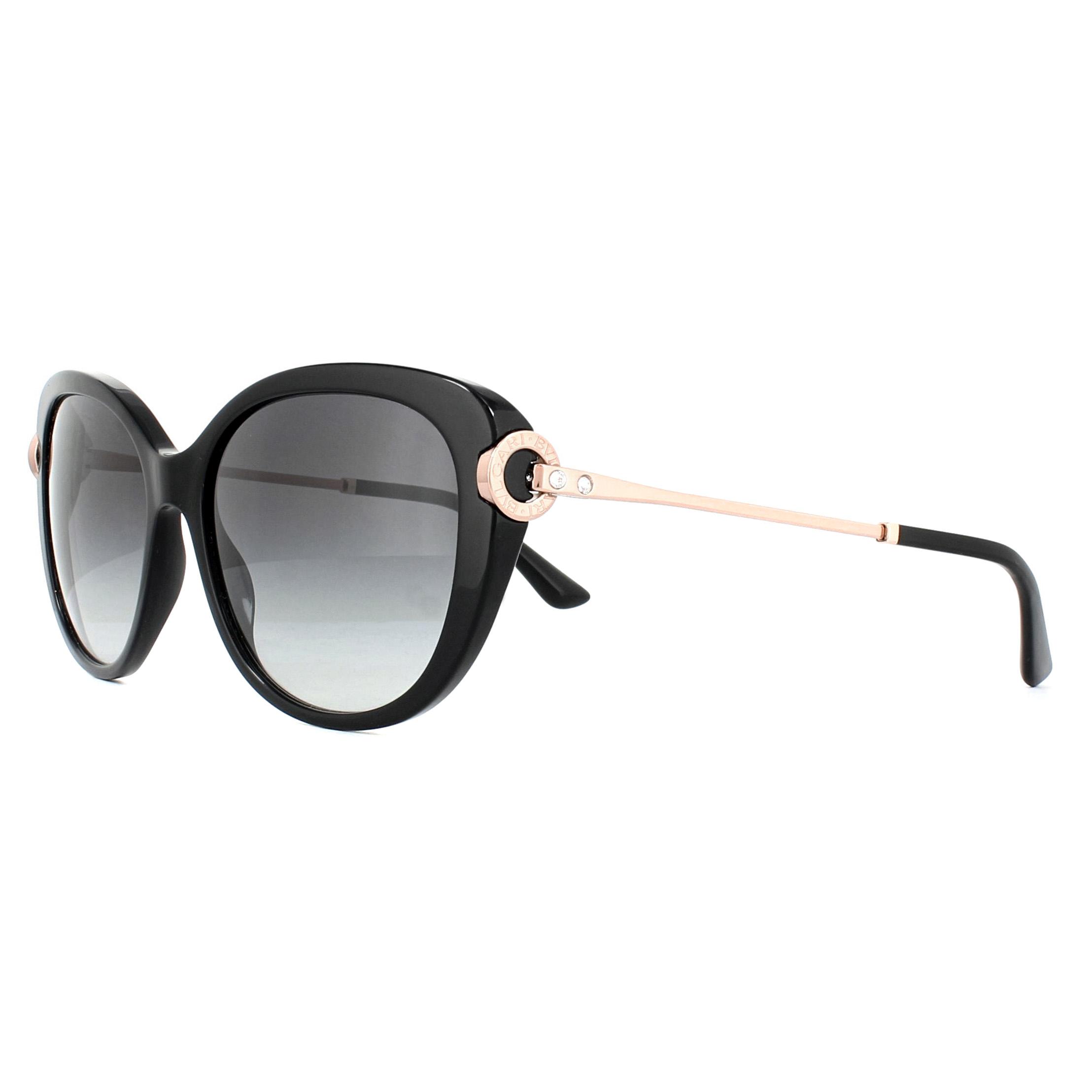89af2e136168 Sentinel Bvlgari Sunglasses 8194B 501 8G Black Grey Gradient