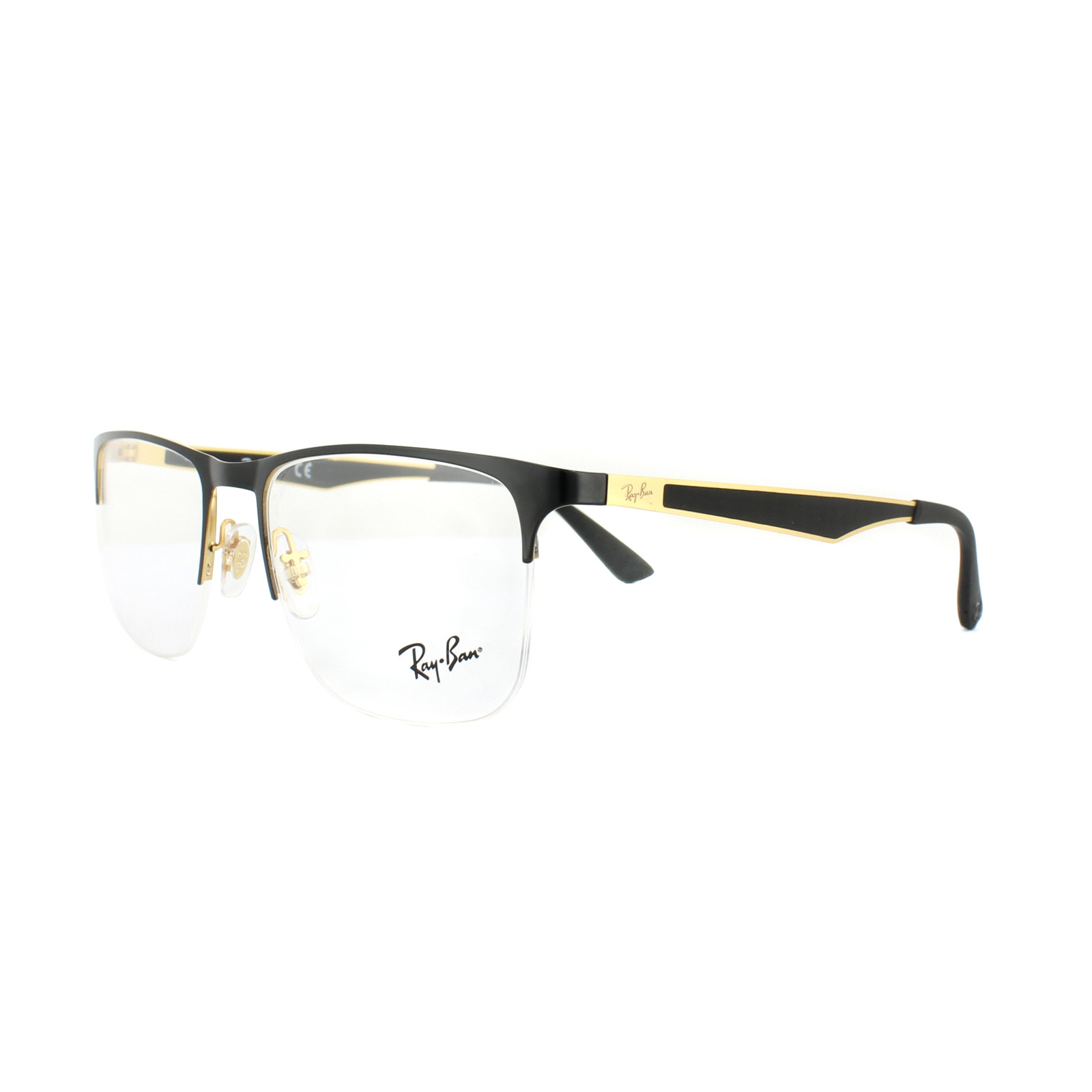 77574a7fd3 Sentinel Ray-Ban Glasses Frames RX 6362 2890 Gold Top Shiny Black Mens 55mm