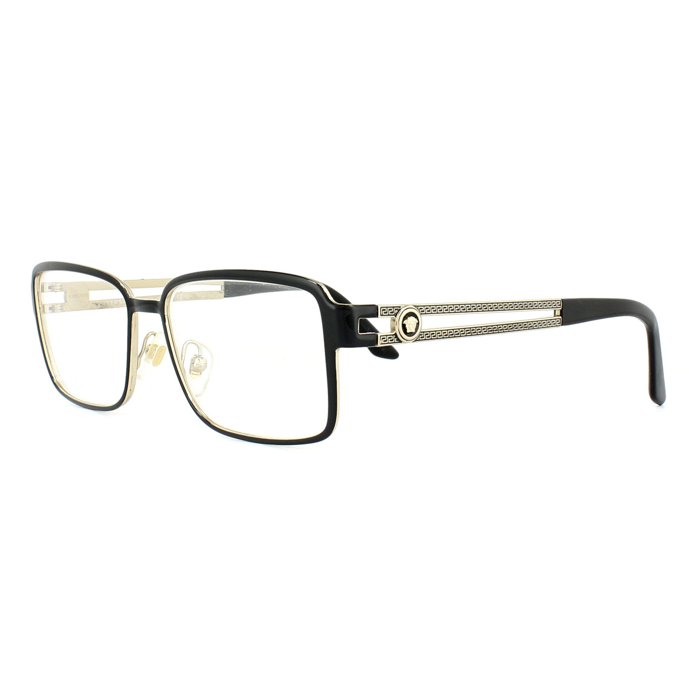 a8b680a739 Sentinel Versace Glasses Frames 1236 1371 Black and Pale Gold 55mm Mens