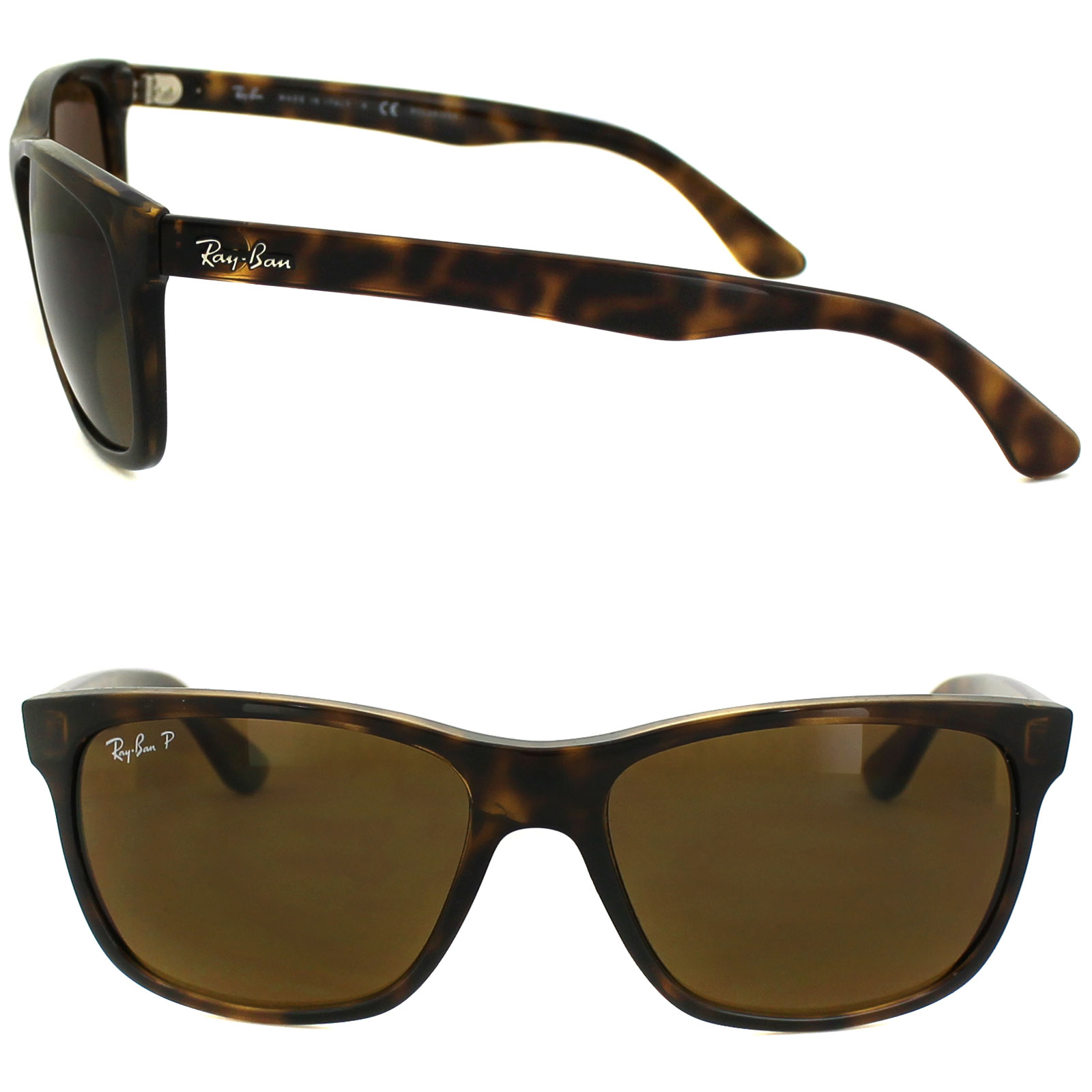 e735c2017904b ... germany sentinel rayban sunglasses 4181 710 83 light havana polarized  brown 70772 65cf7