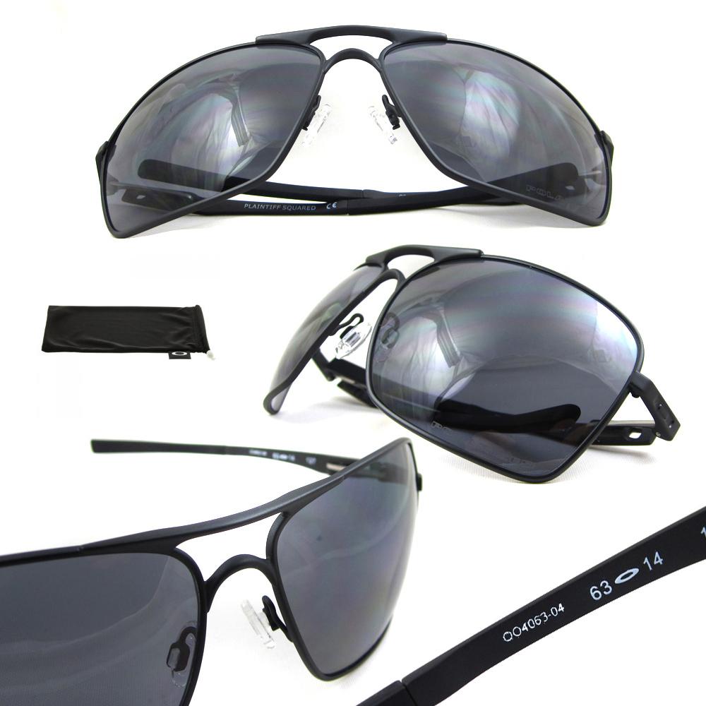 f3a0aa7554 Sentinel Oakley Sunglasses Plaintiff Squared 4063-04 Matte Black Grey  Polarized. Sentinel Thumbnail 3