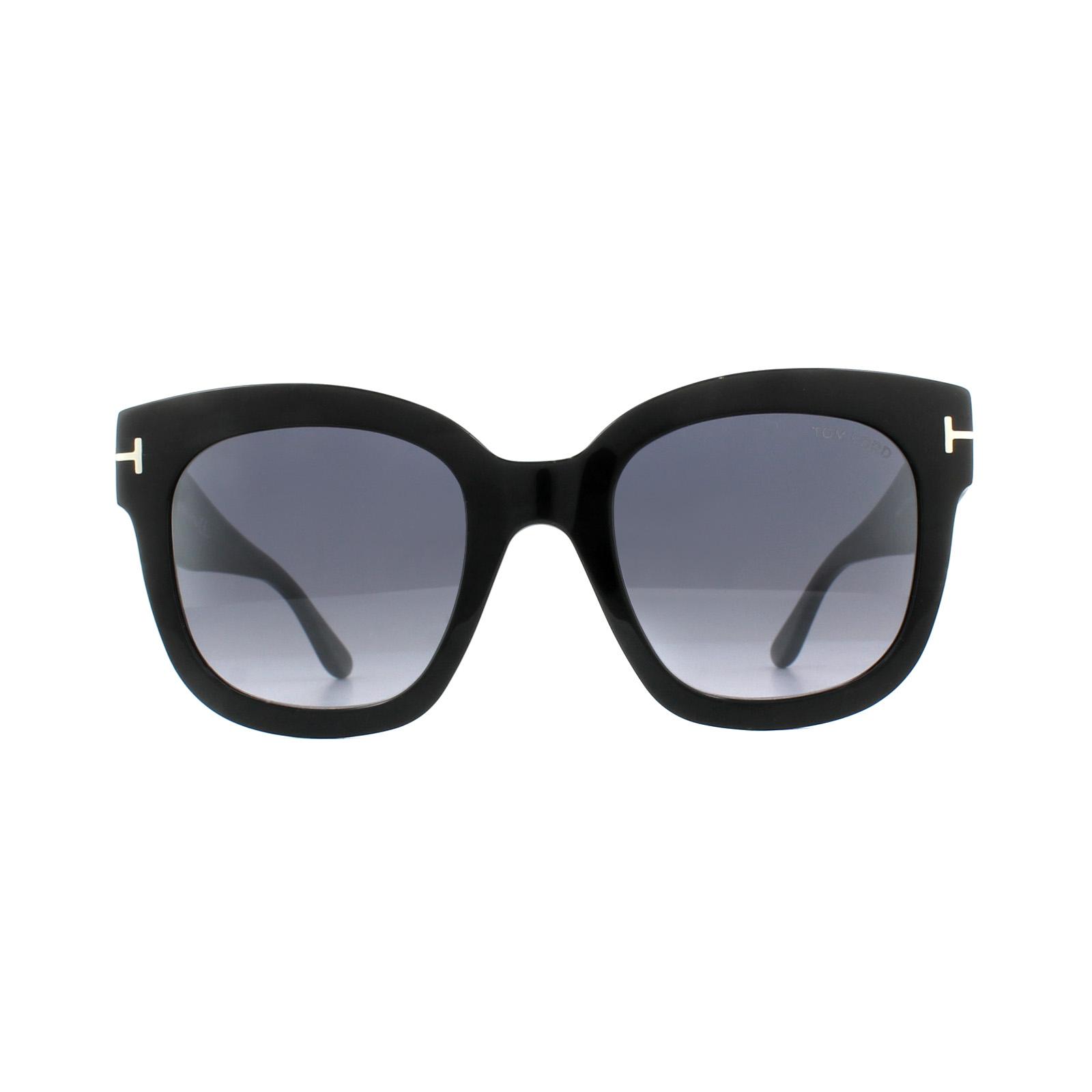 514b3490403 Sentinel Tom Ford Sunglasses 0613 Beatrix 01C Shiny Black Smoke Grey Mirror