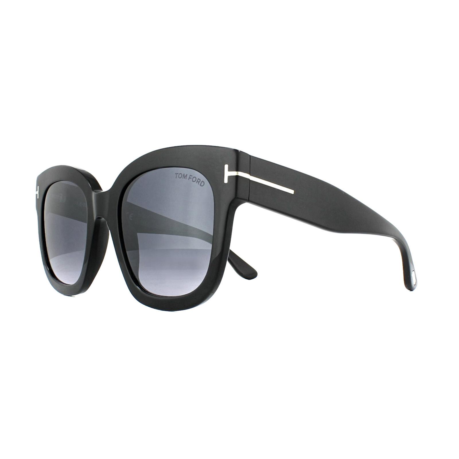 50ddb35033 Sentinel Tom Ford Sunglasses 0613 Beatrix 01C Shiny Black Smoke Grey Mirror