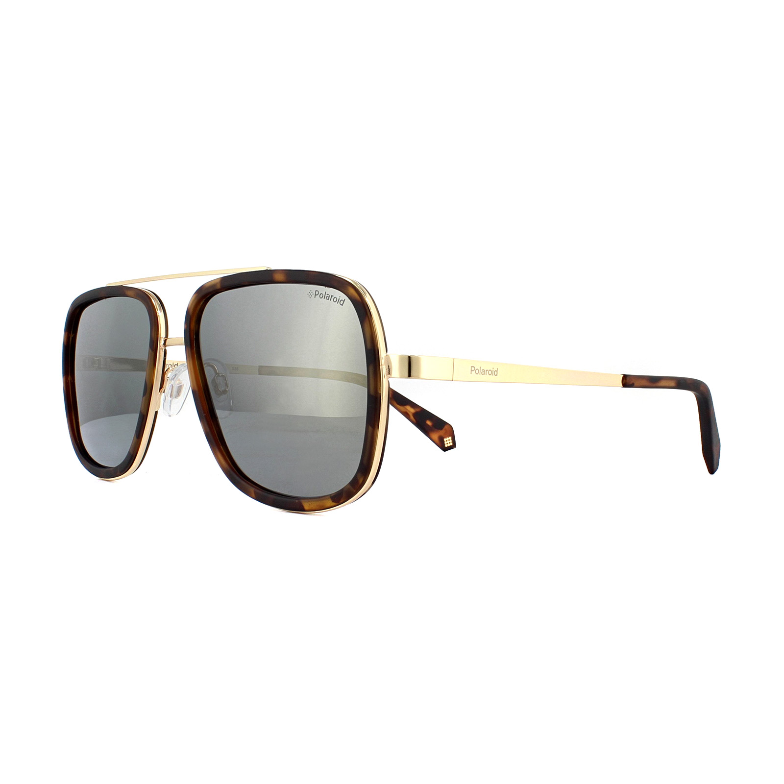 bdb59002a1c Sentinel Polaroid Sunglasses PLD 6033 S 086 LM Dark Havana Grey Gold Mirror  Polarized