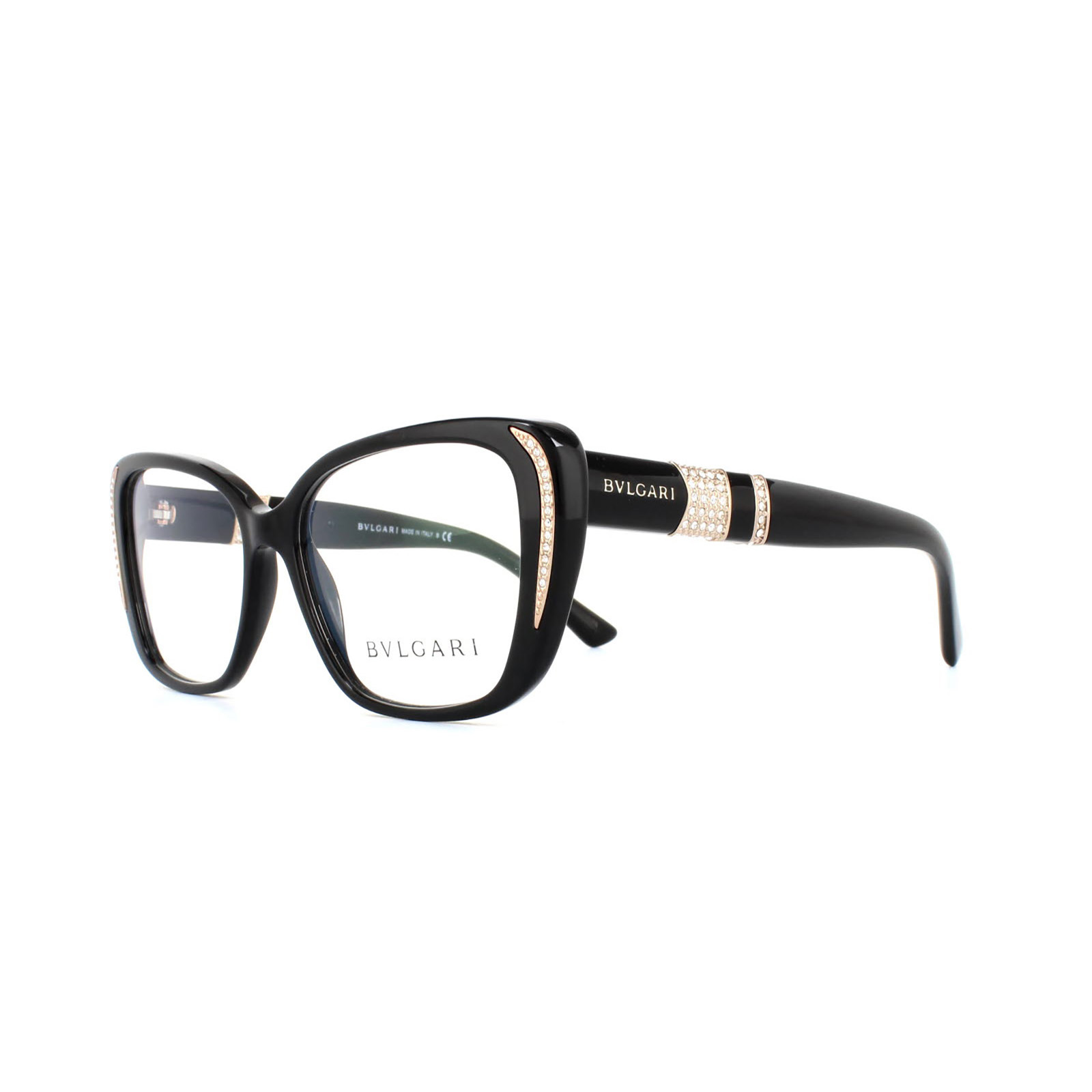 880002c633efe Bvlgari Glasses Frames 4102BM 501 Black Womens 53mm 8053672328943