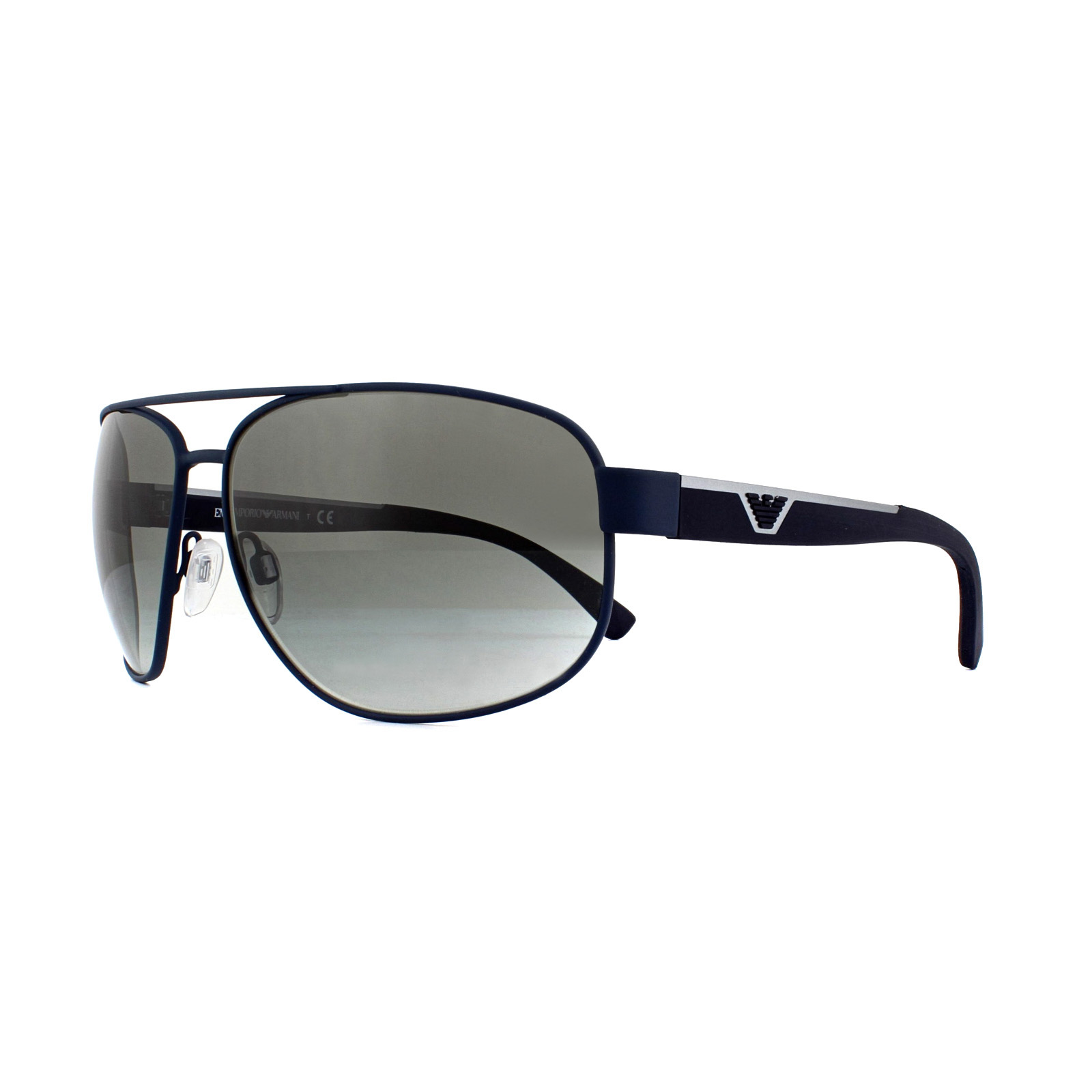 3ce98af9008 Sentinel Emporio Armani Sunglasses EA2036 318811 Dark Blue Rubber Grey  Gradient