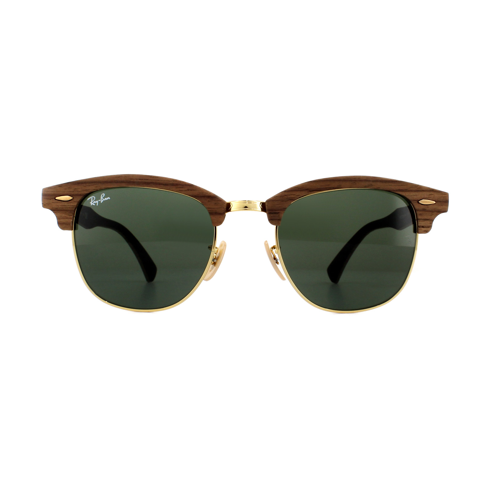 6700ac4be7d49 Sentinel Ray-Ban Sunglasses Clubmaster Wood 3016M 1181 Walnut Green