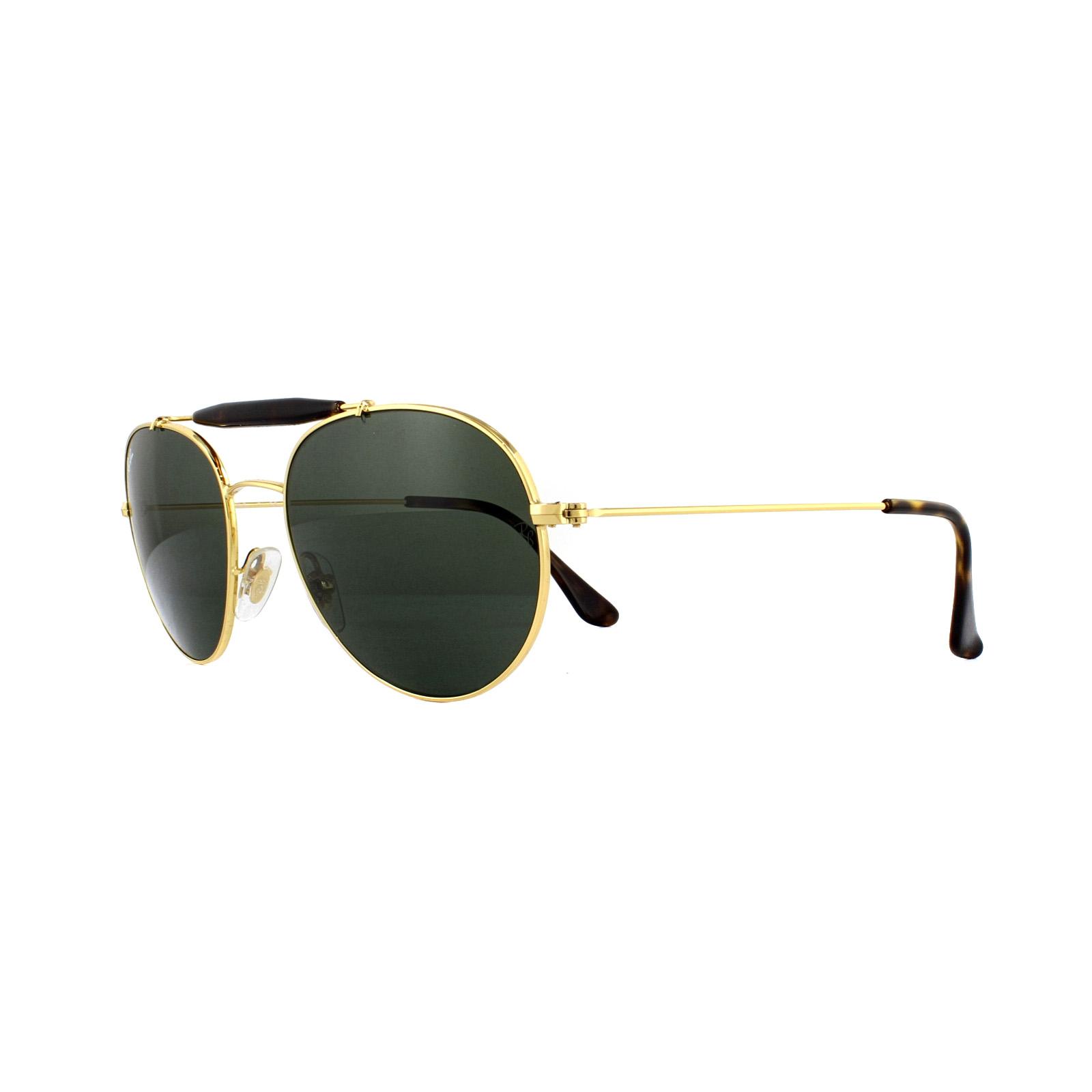 0566152717e5 Ray-Ban Sunglasses RB3540 001 Gold Green 8053672611878 | eBay