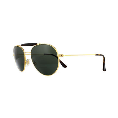Ray-Ban Sunglasses RB3540 001 Gold Green