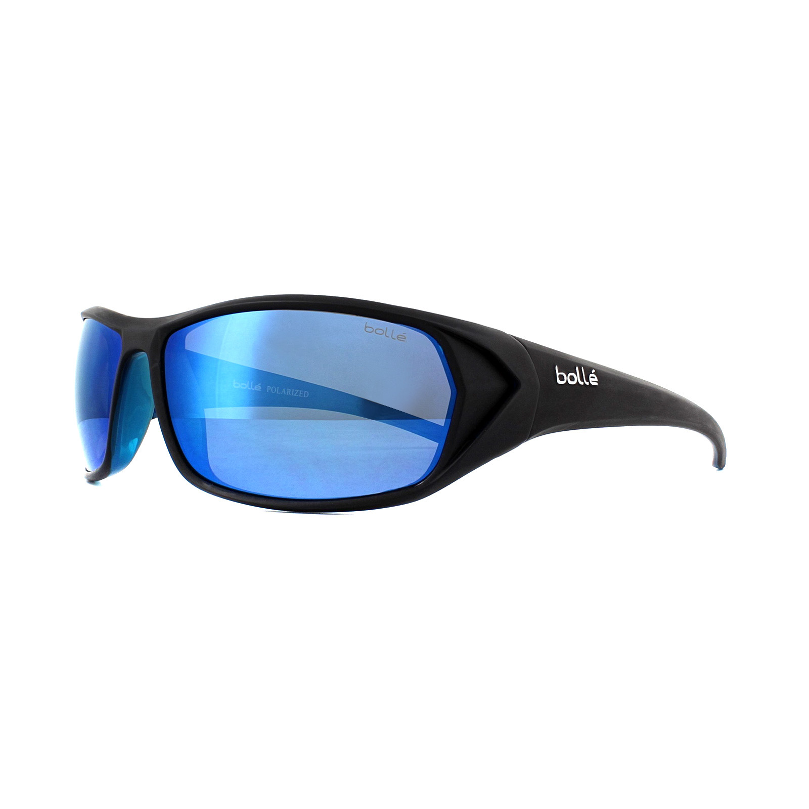 1828cd1534 Sentinel Bolle Sunglasses Blacktail 12031 Shiny Black Blue Offshore Blue  Polarized
