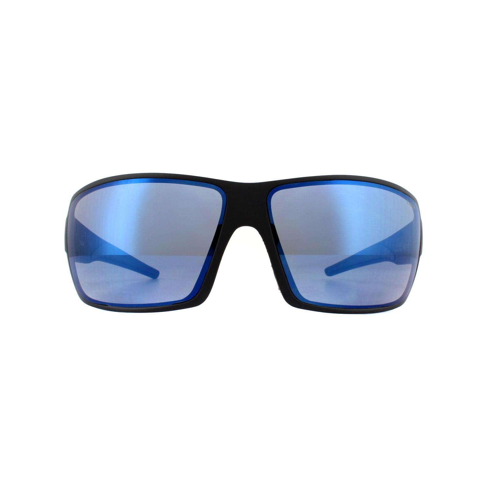 Détails sur Bolle Lunettes de Soleil Cary 12217 Noir Mat GB10 Bleu