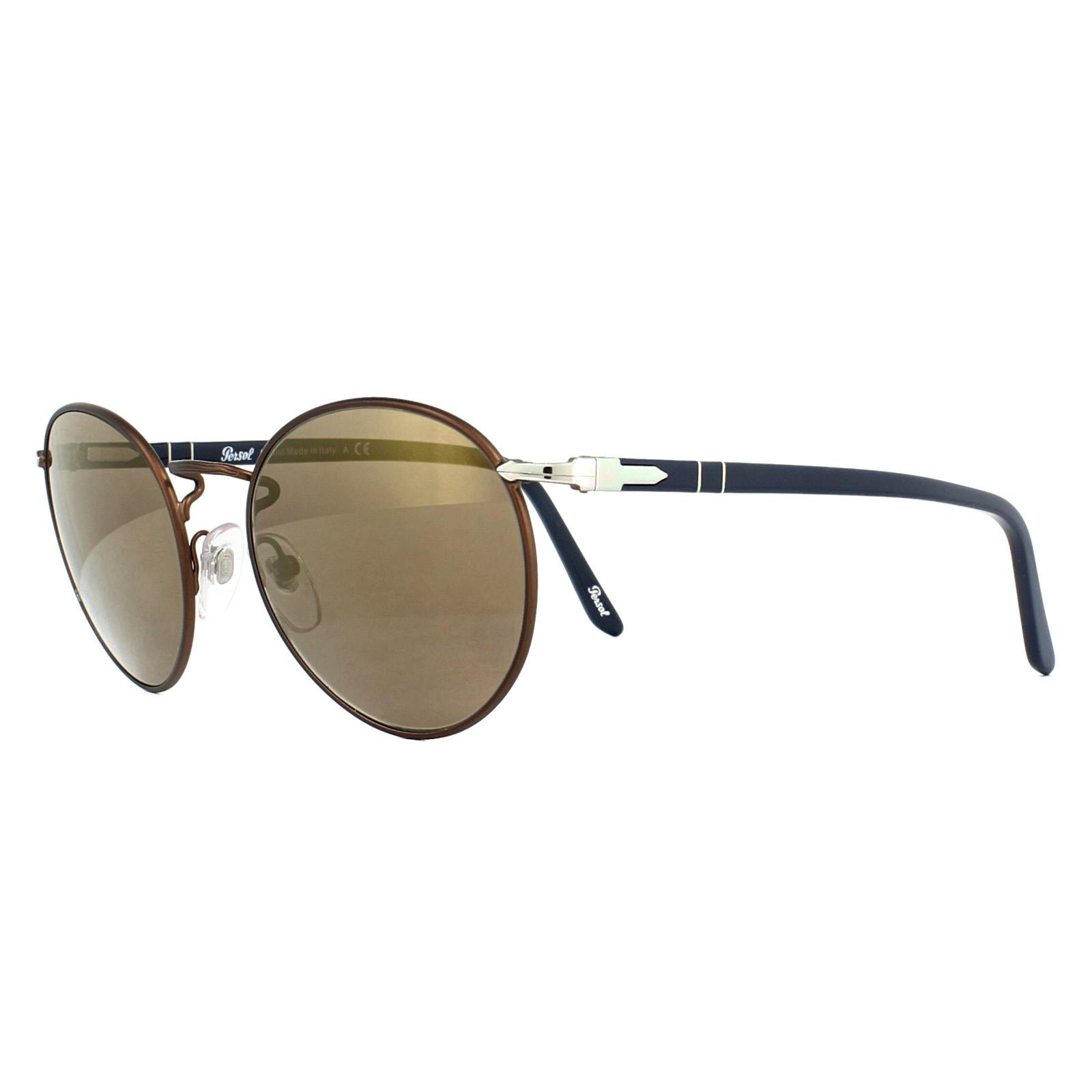 16ac41fdf7a Sentinel Persol Sunglasses 2388S 1066O3 Brown Brown Gold Mirror