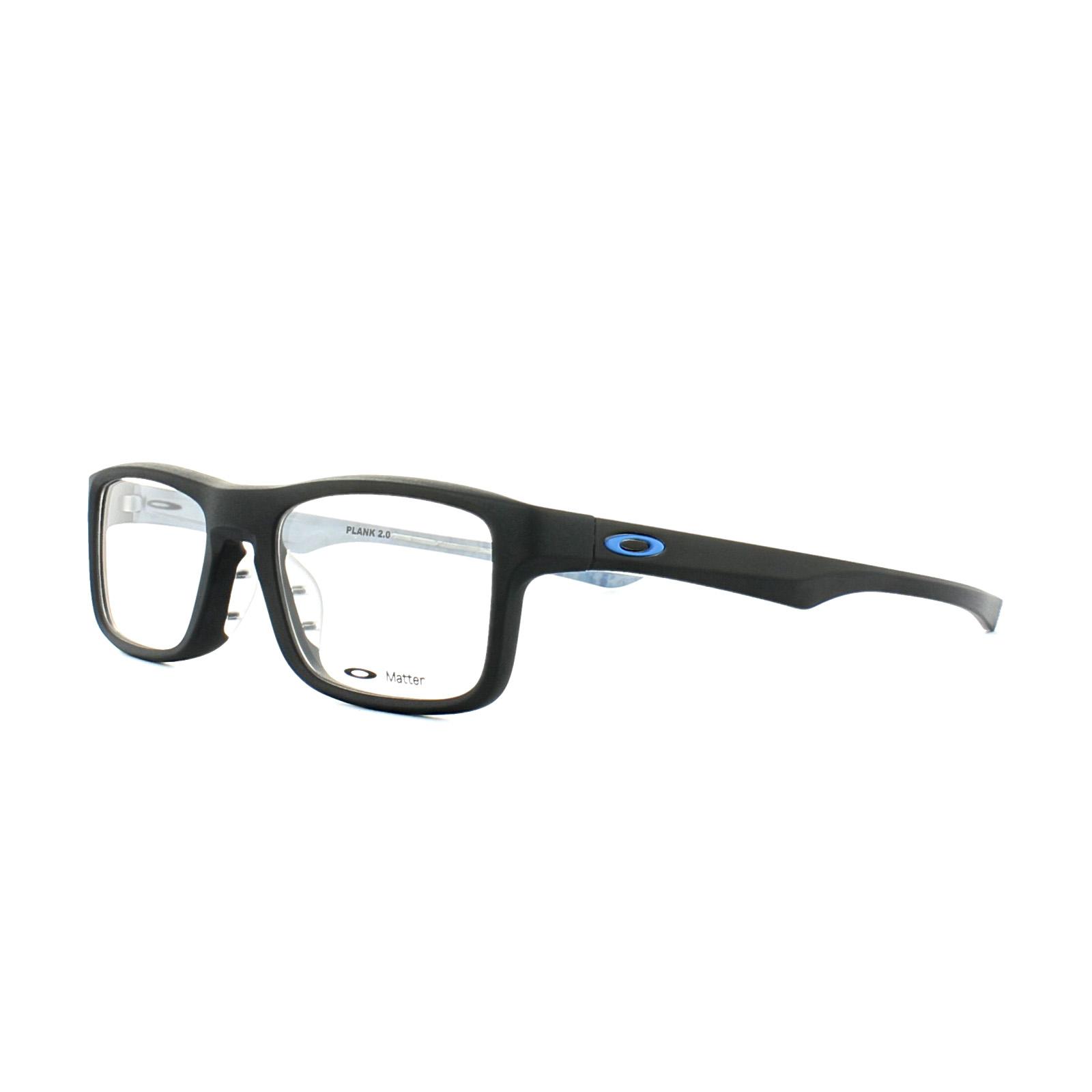 25f75bd760 Details about Oakley Glasses Frames Plank 2.0 OX8081-01 Satin Black 51mm