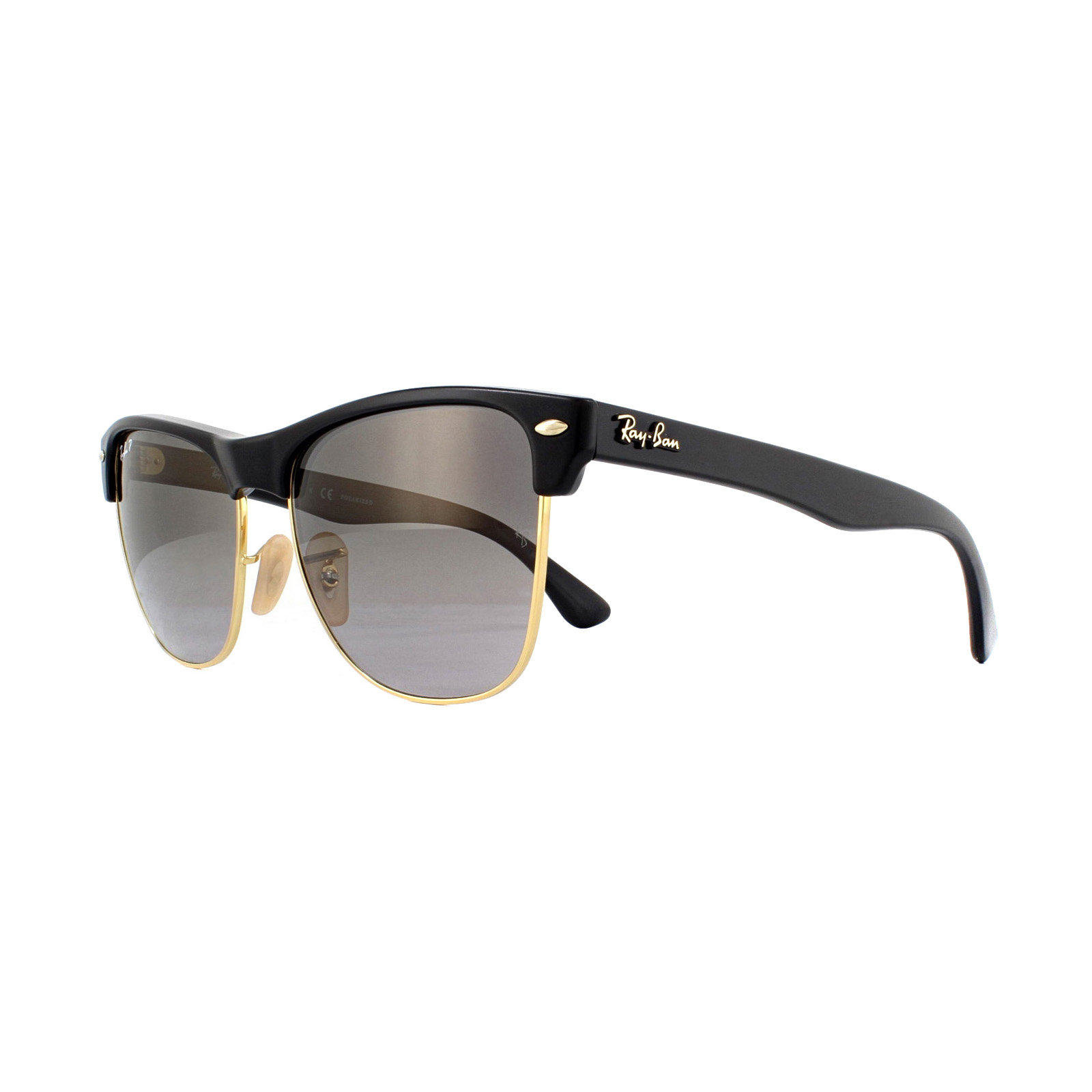 Sentinel Ray-Ban Sunglasses Clubmaster Oversized 4175 877 M3 Black Grey  Shaded Polarized d024d29f0527