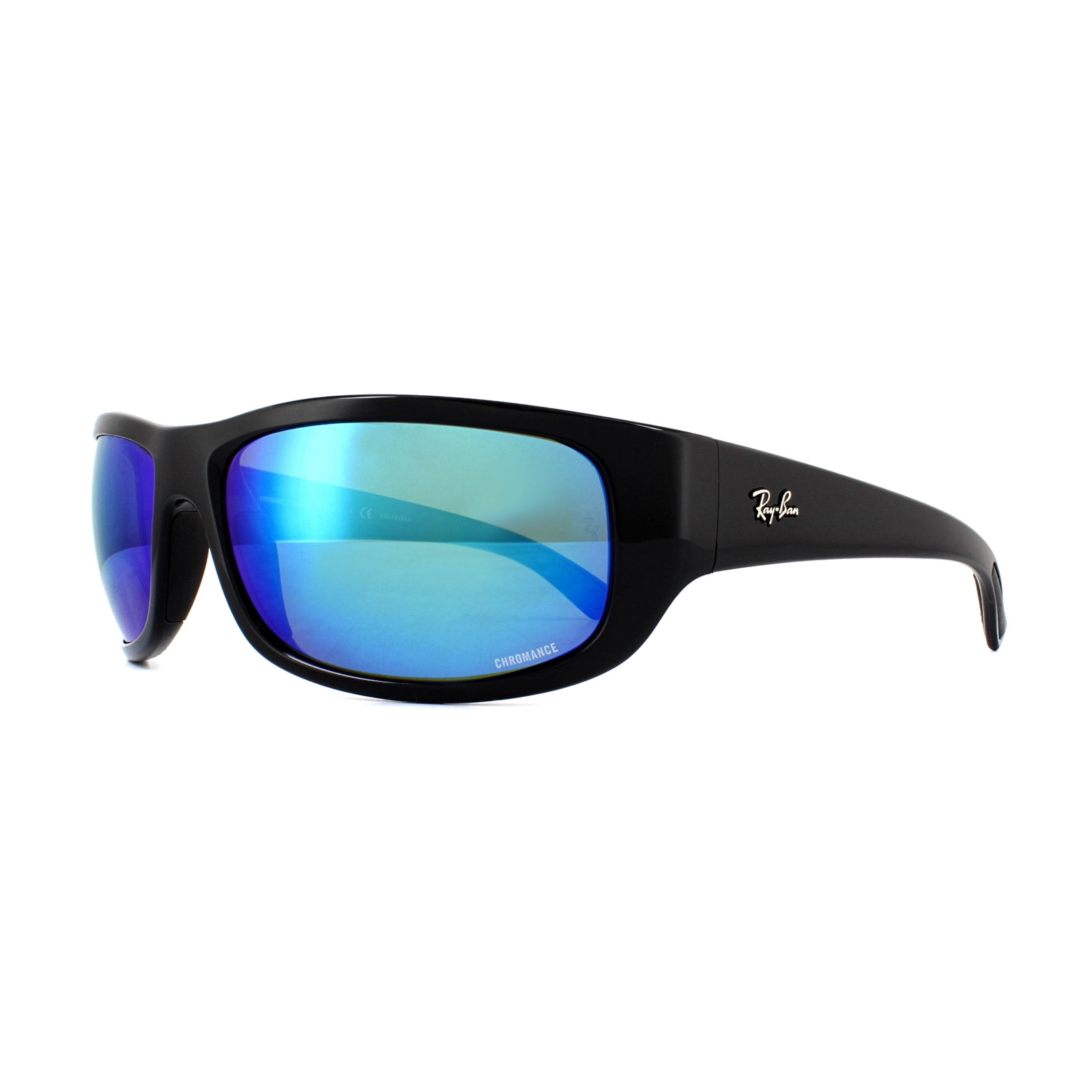 b1b4dfea18 Sentinel Ray-Ban Sunglasses 4283CH Chromance 601 A1 Black Blue Mirror  Polarized
