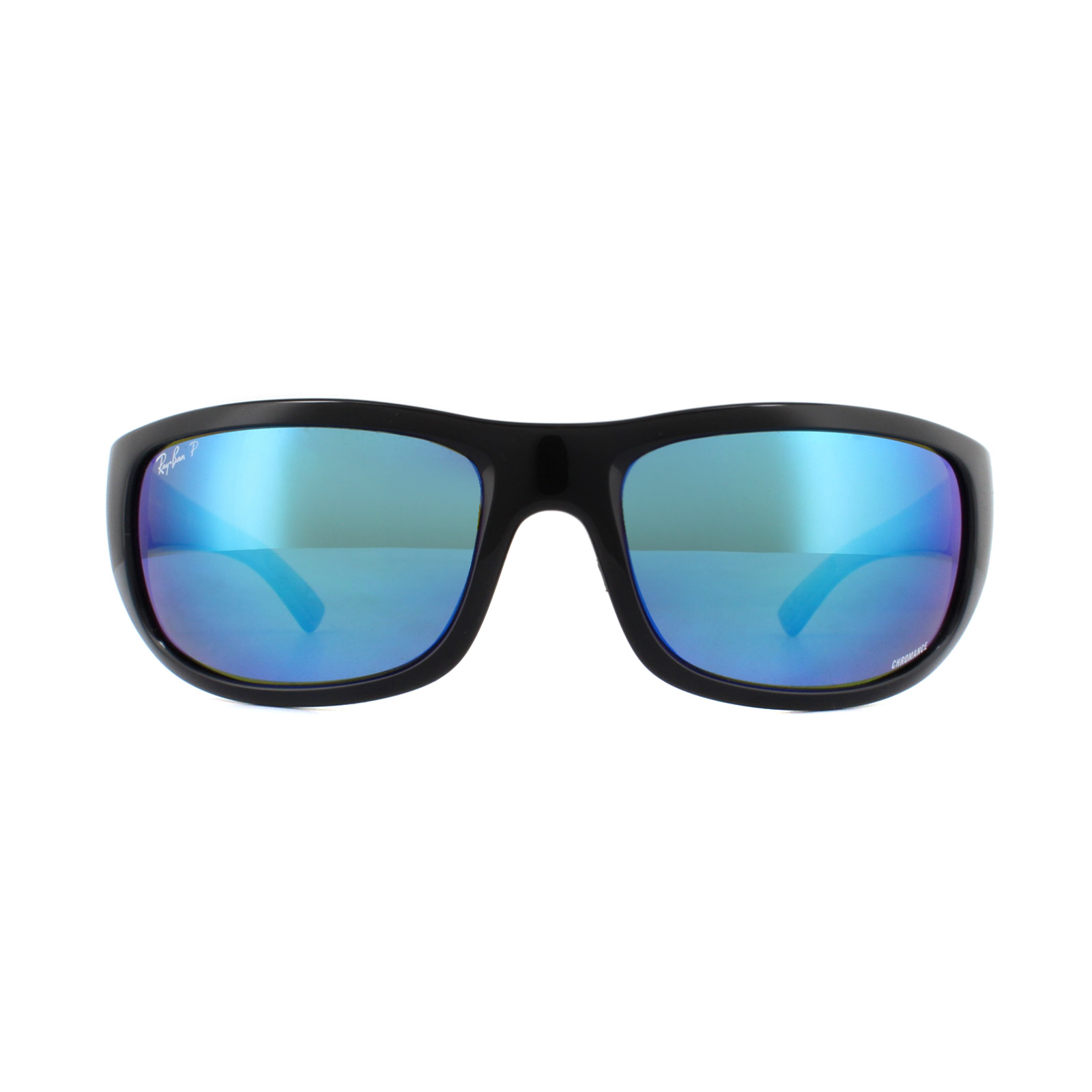 b1b4dfea18 Sentinel Ray-Ban Sunglasses 4283CH Chromance 601 A1 Black Blue Mirror  Polarized