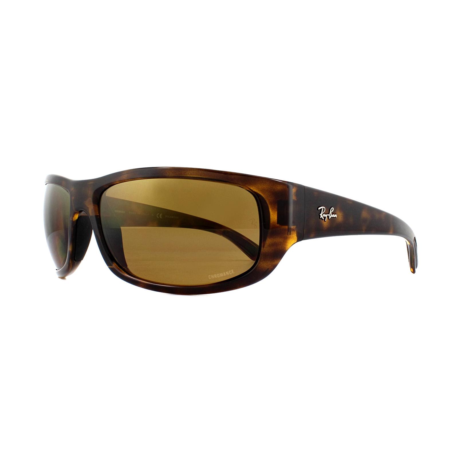 e29e2c9996 Sentinel Ray-Ban Sunglasses 4283CH Chromance 710 A3 Havana Bronze Mirror  Polarized