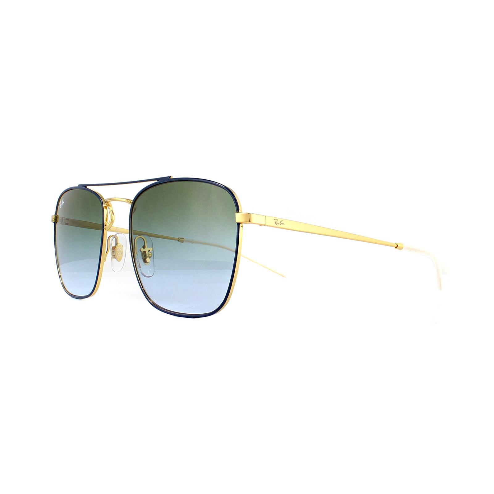 f5ee175f284 Sentinel Ray-Ban Sunglasses 3588 9062I7 Blue Gold Green Gradient