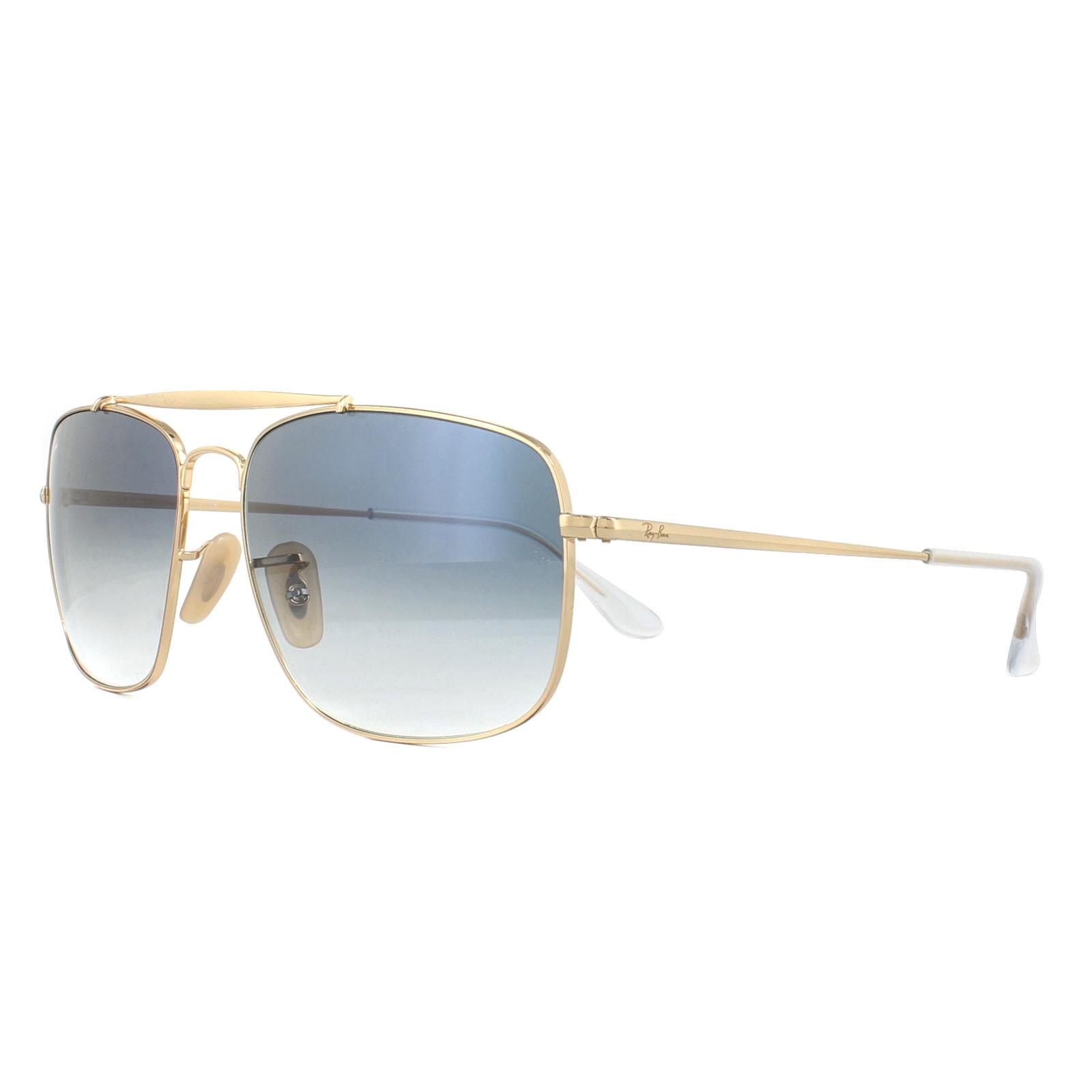 Sentinel Ray-Ban Sunglasses The Colonel RB3560 001 3F Gold Blue Gradient 983ddb8e03