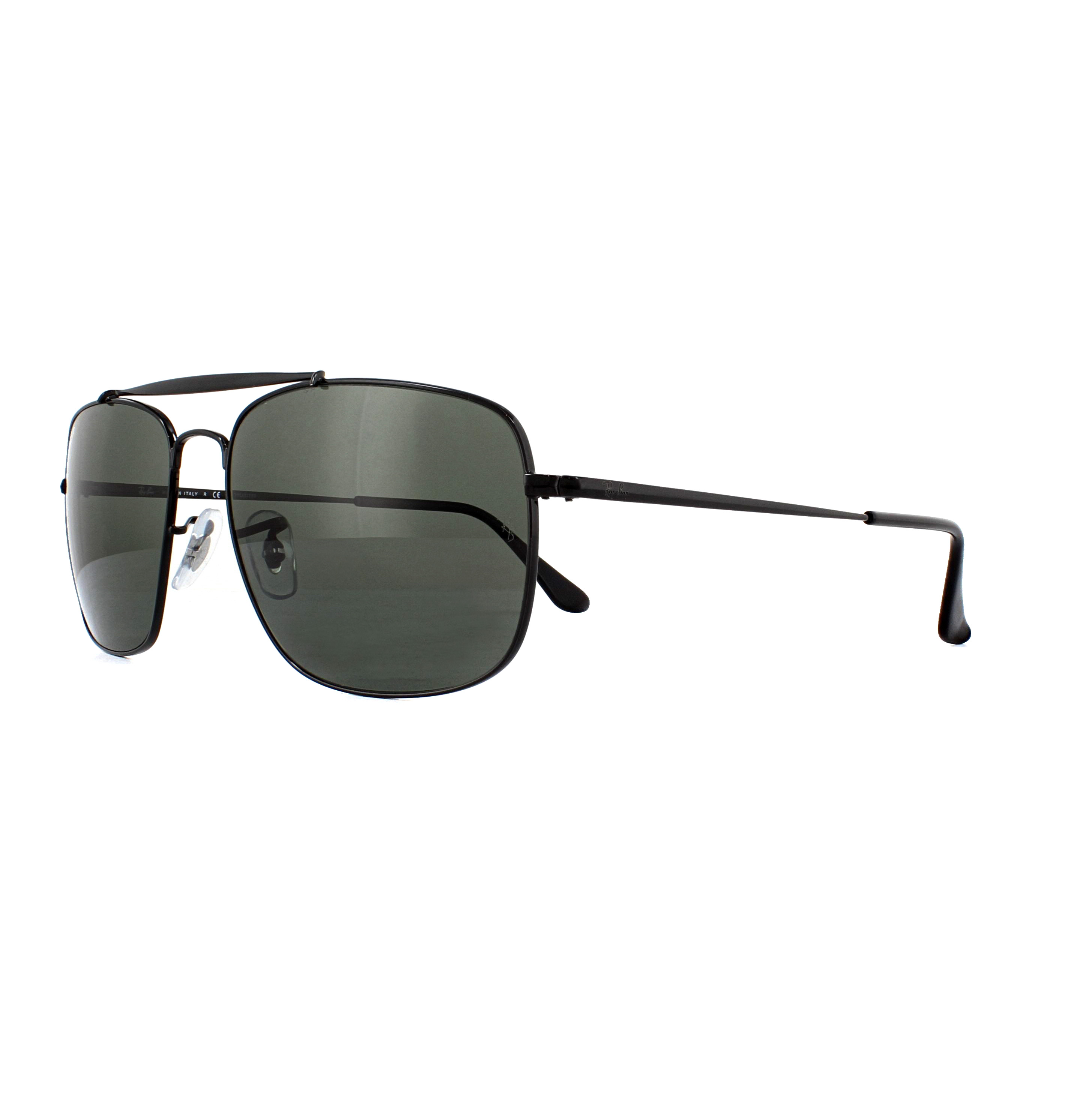 6bb1219a3cd4 Sentinel Ray-Ban Sunglasses The Colonel RB3560 002 58 Black Green Polarized