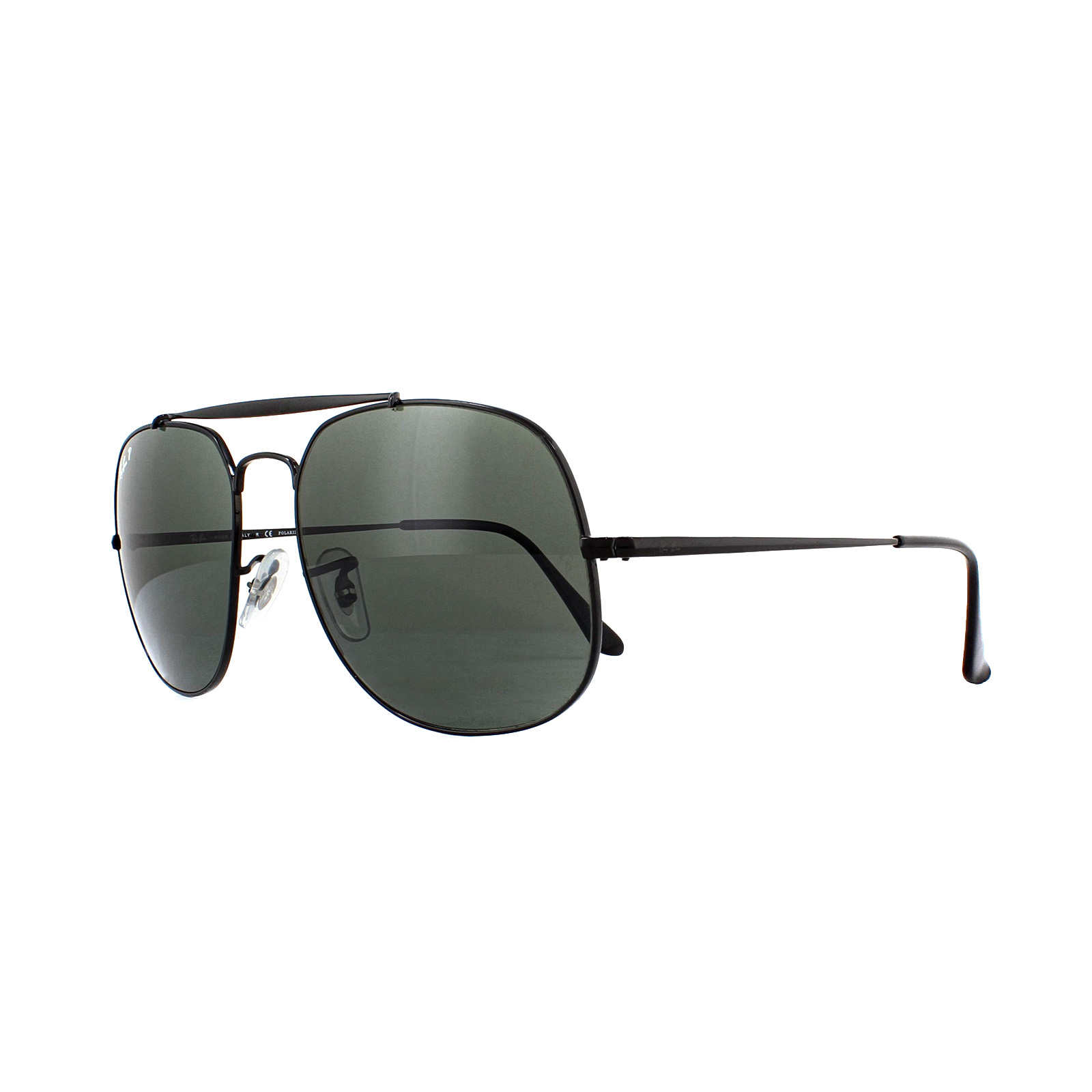 cf76bbd79c Sentinel Ray-Ban Sunglasses General 3561 002 58 Black Green Polarized