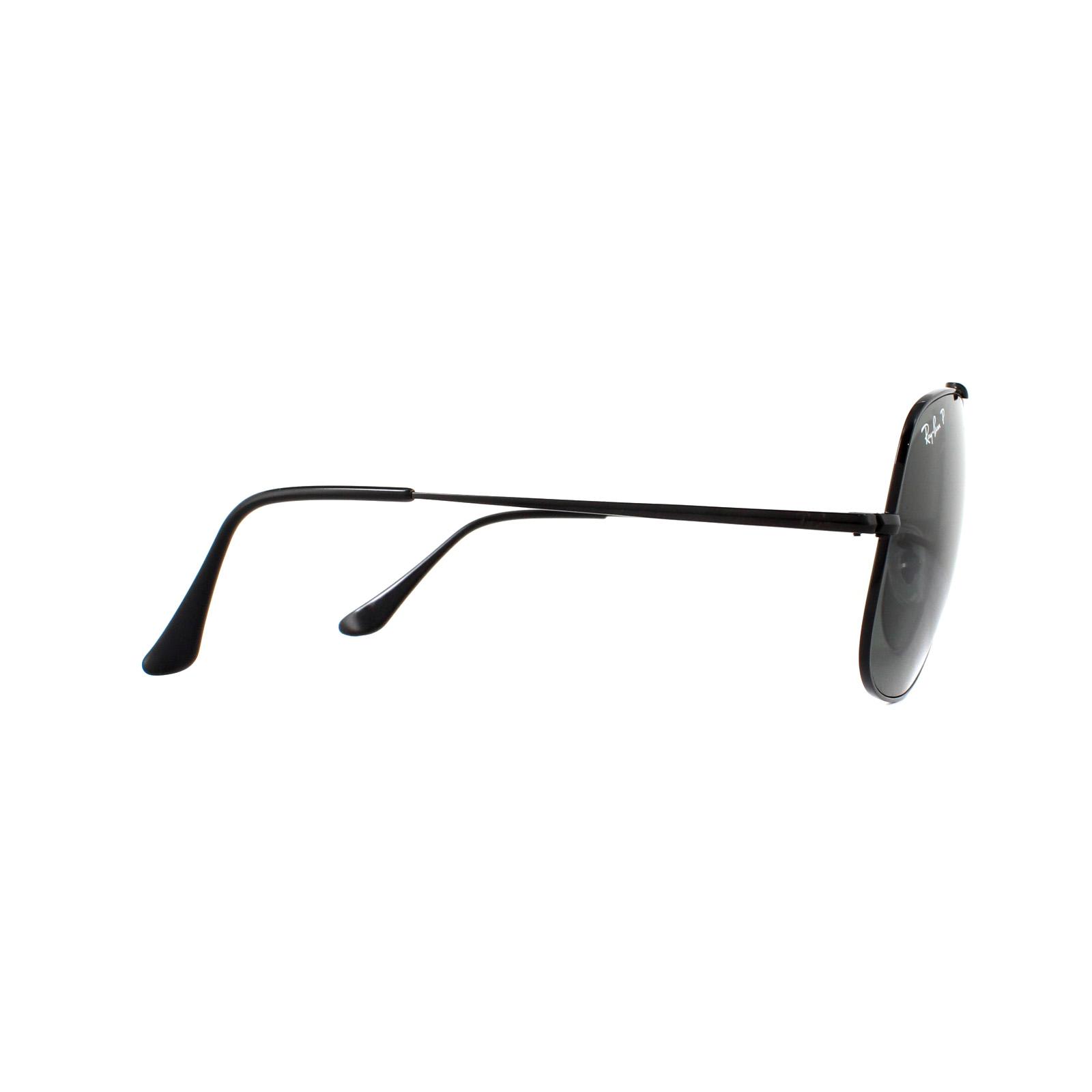 cf76bbd79c Sentinel Ray-Ban Sunglasses General 3561 002 58 Black Green Polarized
