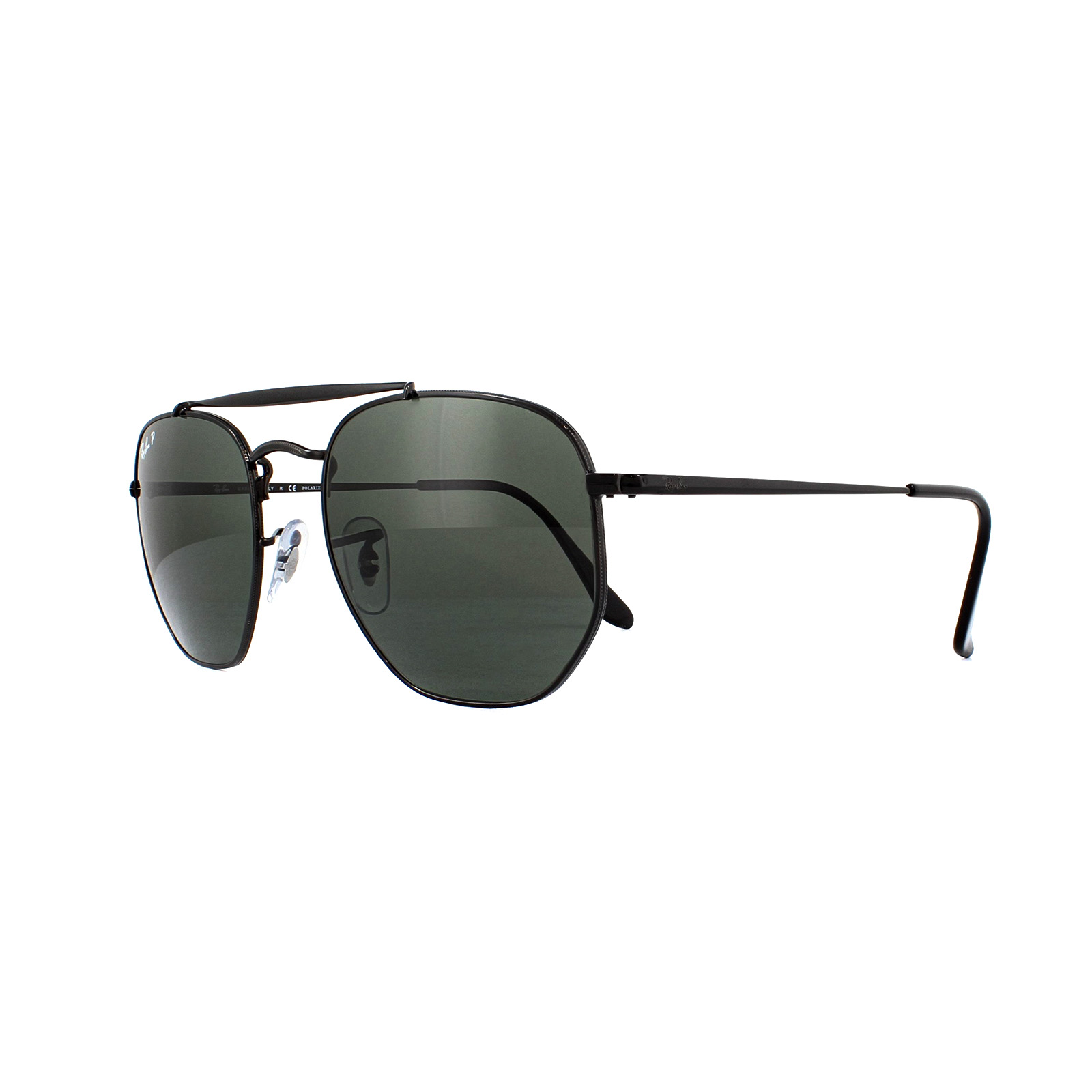 427b145509c Sentinel Ray-Ban Sunglasses Marshal 3648 002 58 Black Green Polarized