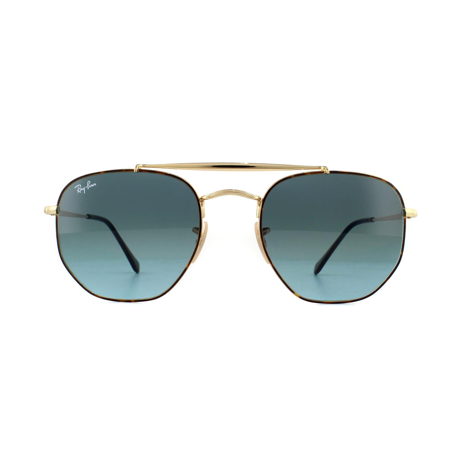 c099a34d393d6 SENTINEL Occhiali da sole Ray-Ban Marshal 3648 91023M tartaruga oro blu  sfumato