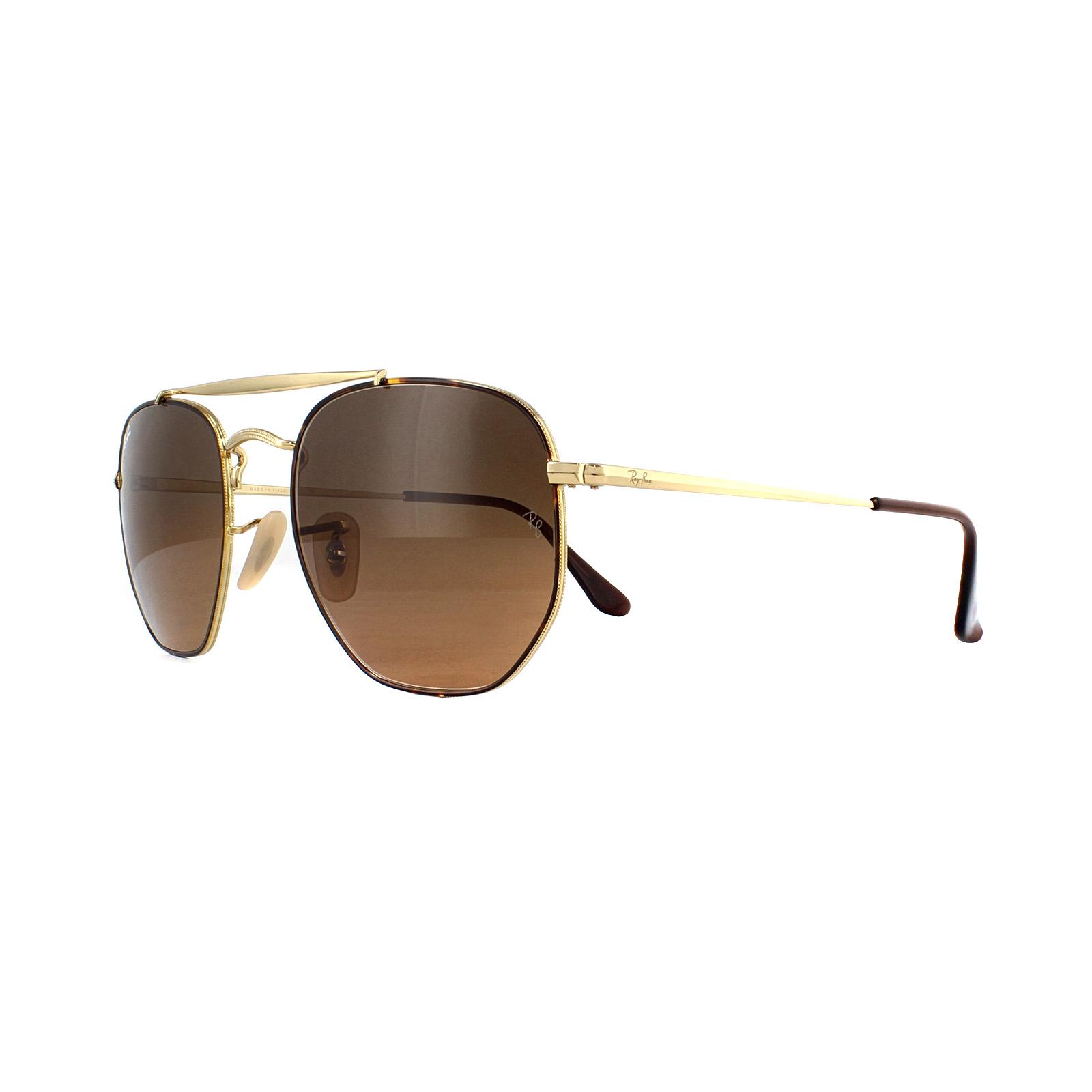 568e569dbe Sentinel Ray-Ban Sunglasses Marshal 3648 910443 Tortoise Gold Brown Gradient