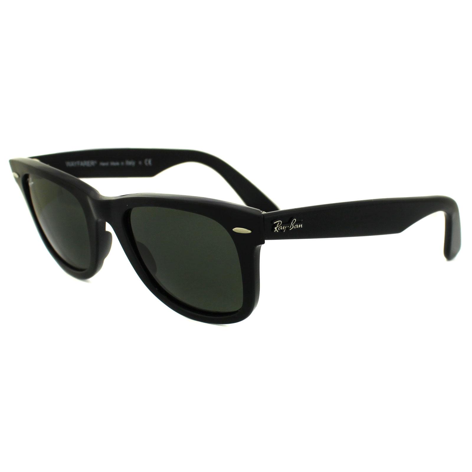 0935391220a23 CENTINELA Gafas de sol Ray-Ban Wayfarer 2140 901 negro verde G-15 mediana 50