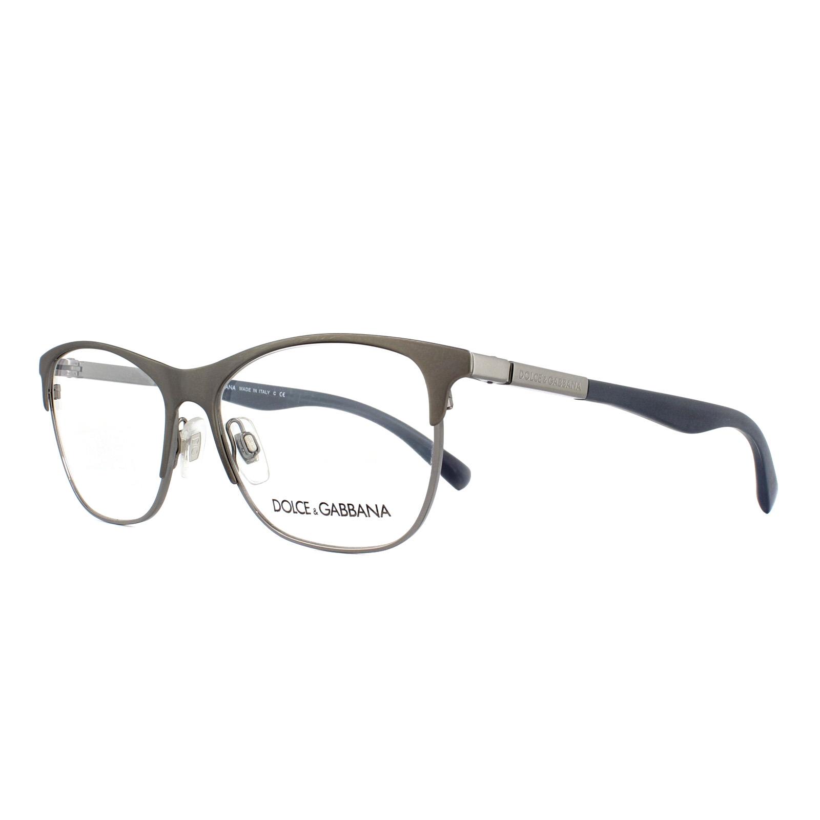 afe02bf4a47 Sentinel Dolce   Gabbana Glasses Frames DG 1246 1221 Matt Gunmetal 53mm  Womens
