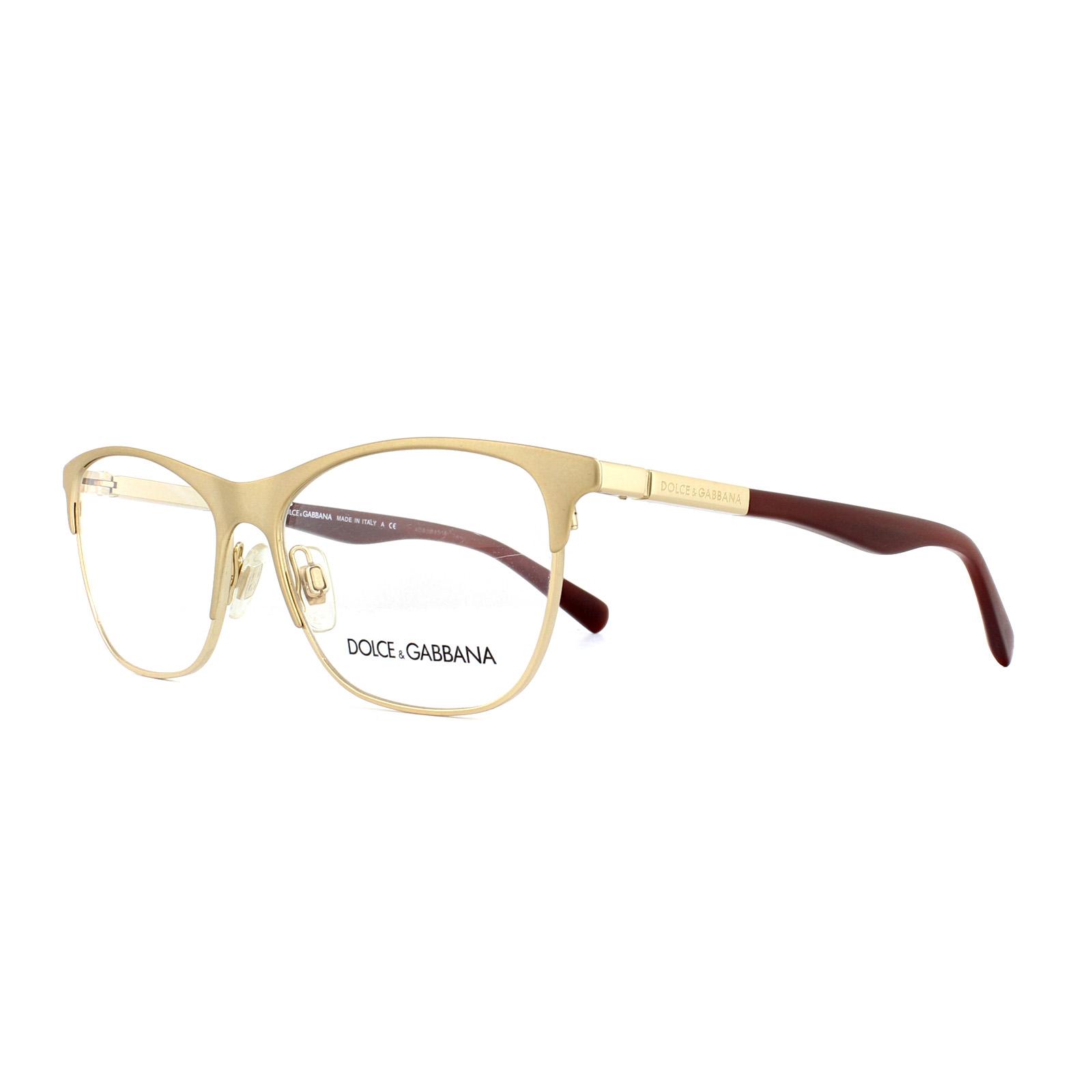 f7a8282cba8 Sentinel Dolce   Gabbana Glasses Frames DG 1246 1224 Matt Gold 53mm Womens
