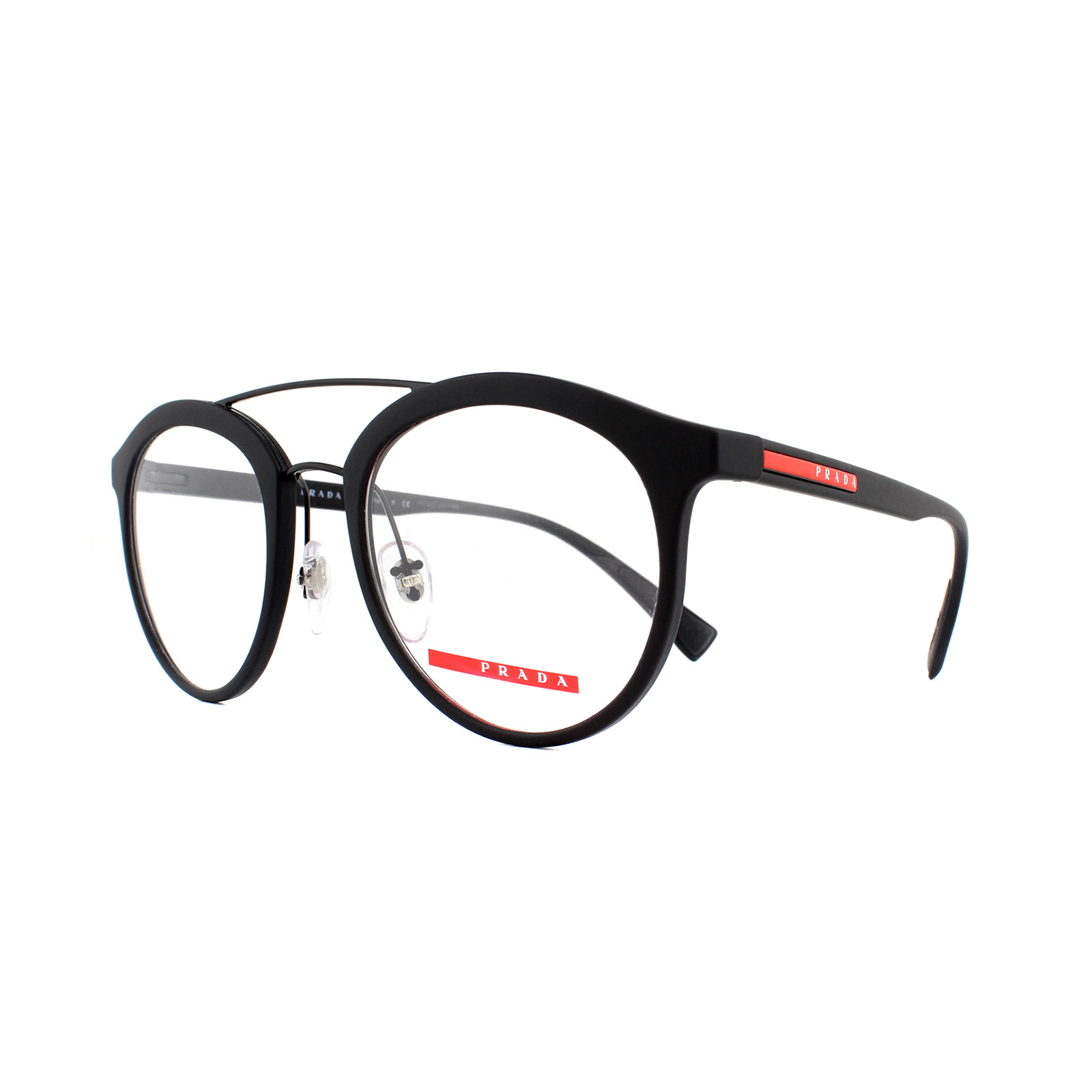 b4167e5e08 Sentinel Prada Sport Glasses Frames PS 01HV DG01O1 Black Rubber 50mm Mens
