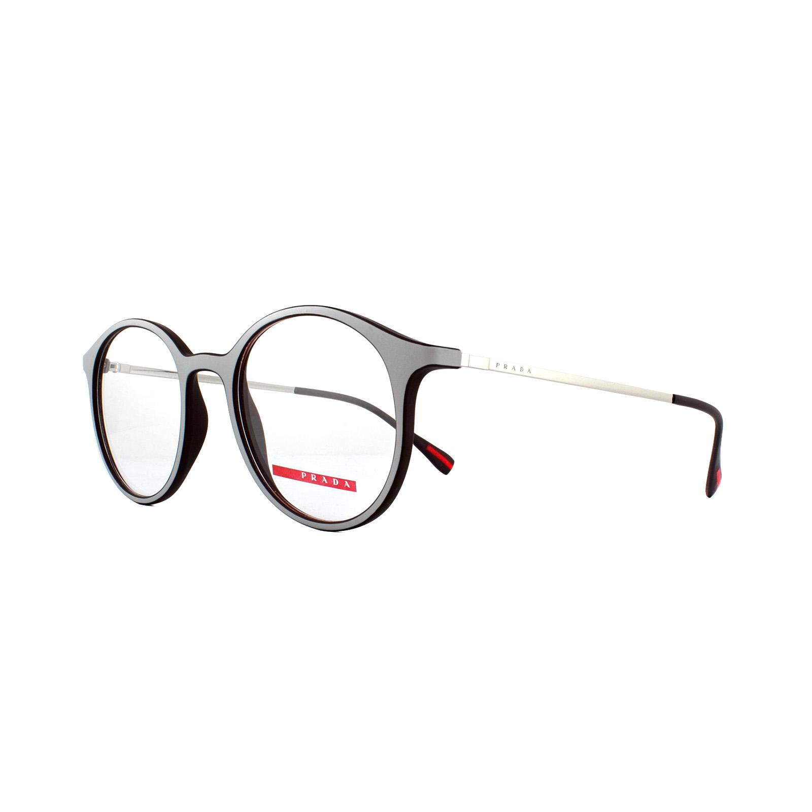 12a22acc3e68 Sentinel Prada Sport Glasses Frames PS 02IV VY01O1 Top Grey Brown Rubber  49mm Mens
