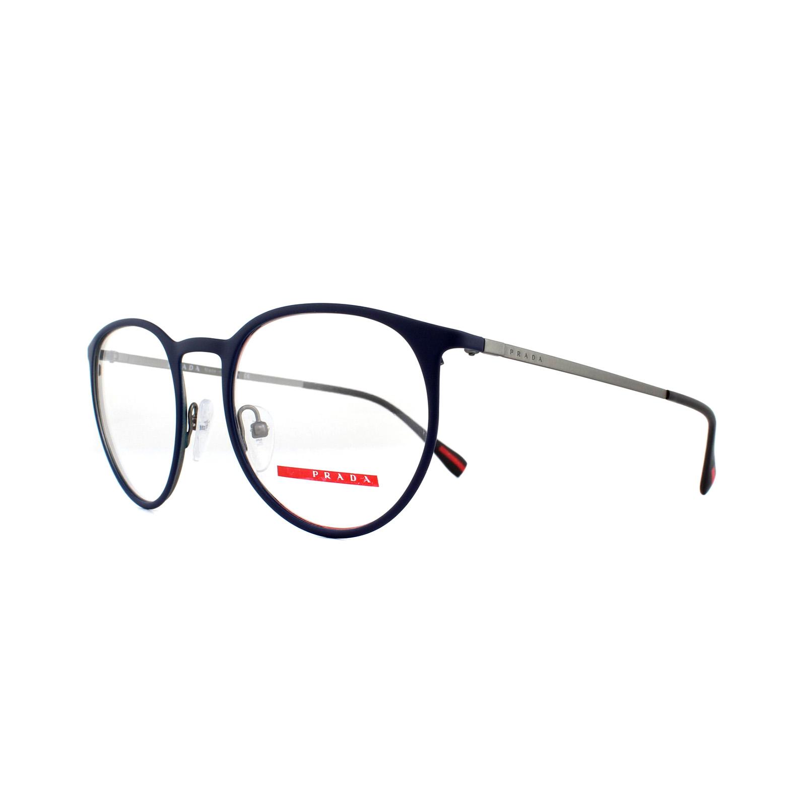 2279650778a8 Sentinel Prada Sport Glasses Frames PS 50HV TFY1O1 Top Blue Gunmetal 50mm  Mens
