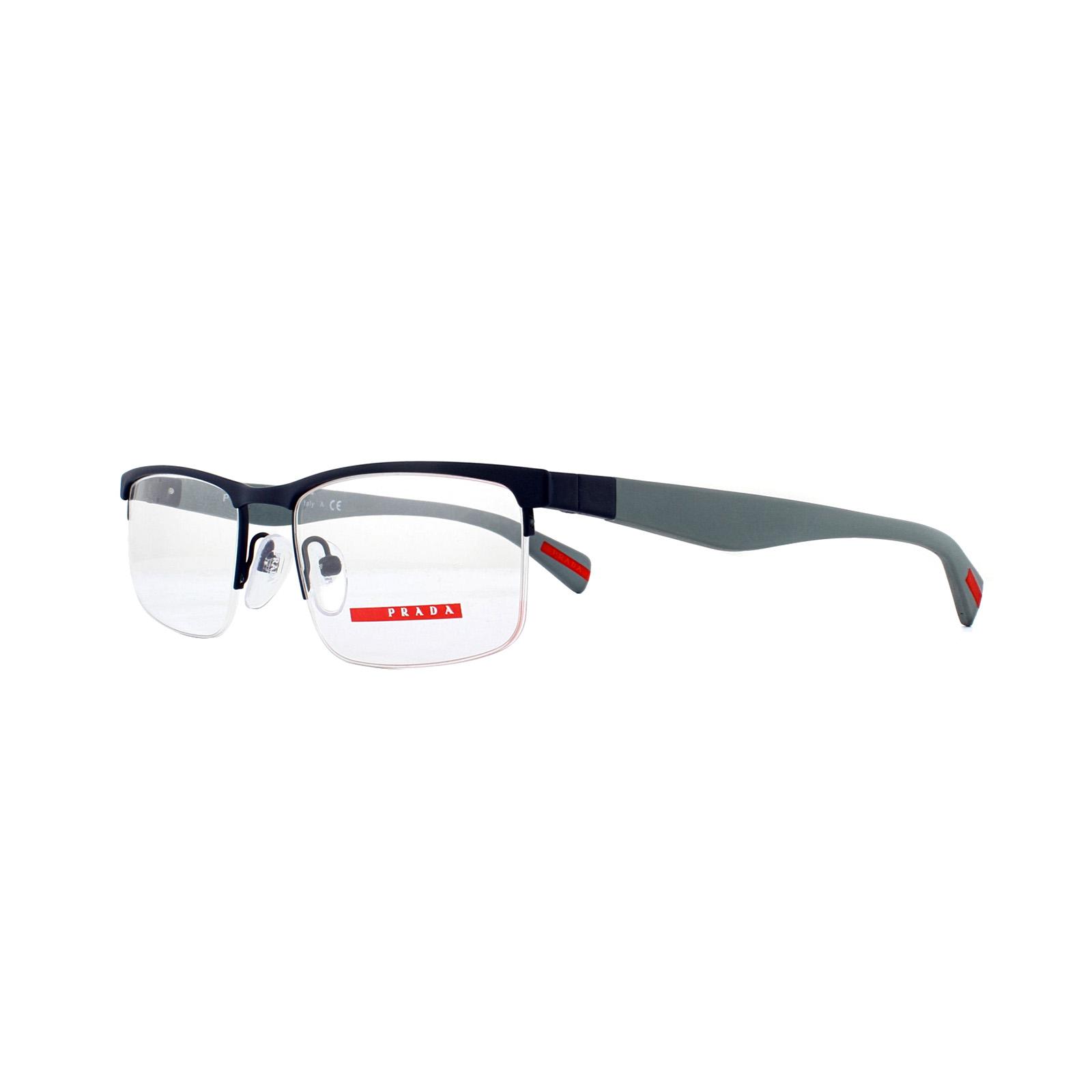 f6ff645880da Sentinel Prada Sport Glasses Frames PS 52FV TFY1O1 Blue Rubber 52mm Mens