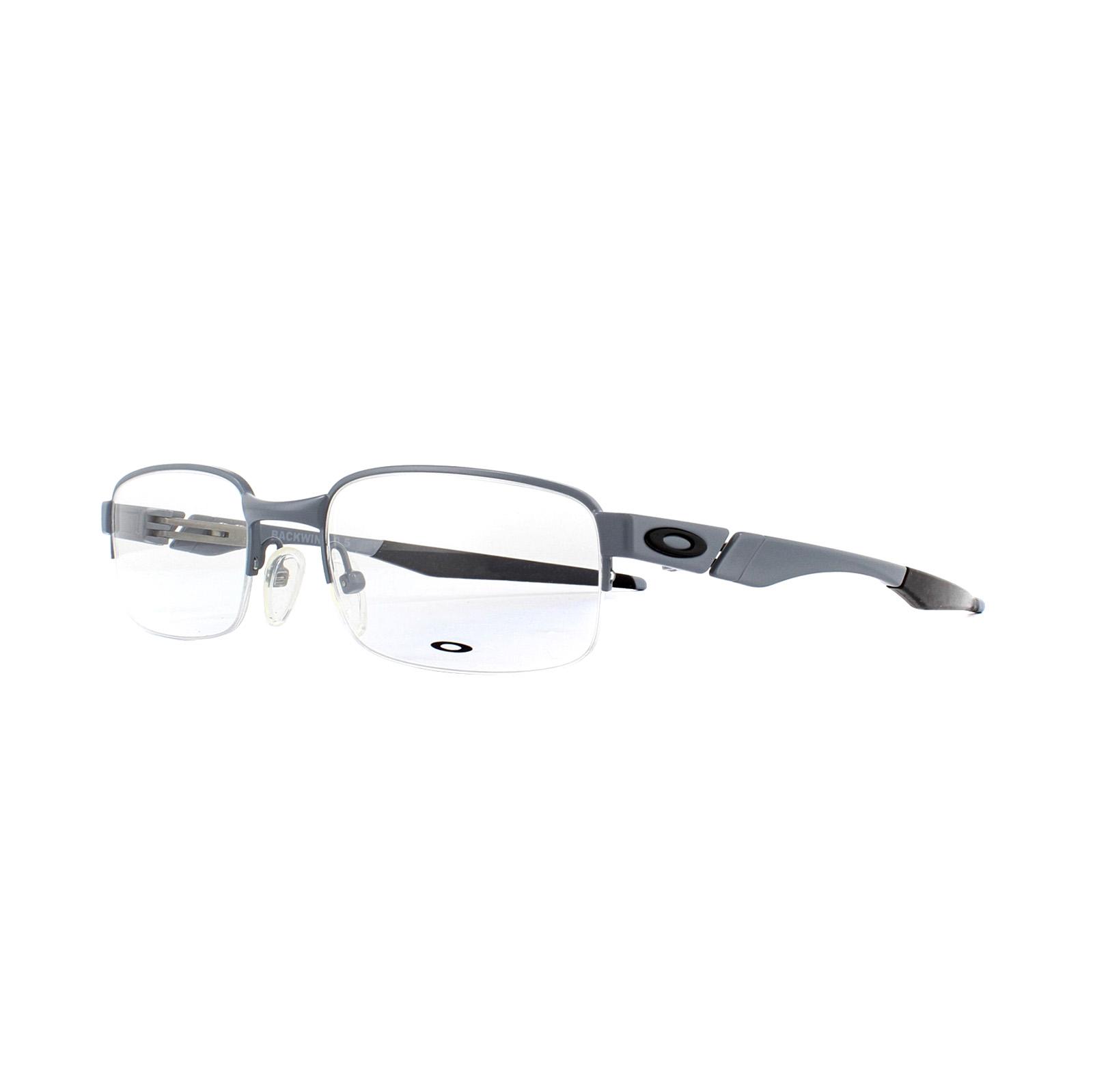 9c9b1ace38 Sentinel Oakley Glasses Frames Backwind 0.5 OX3163-01 Satin Grey 50mm Mens