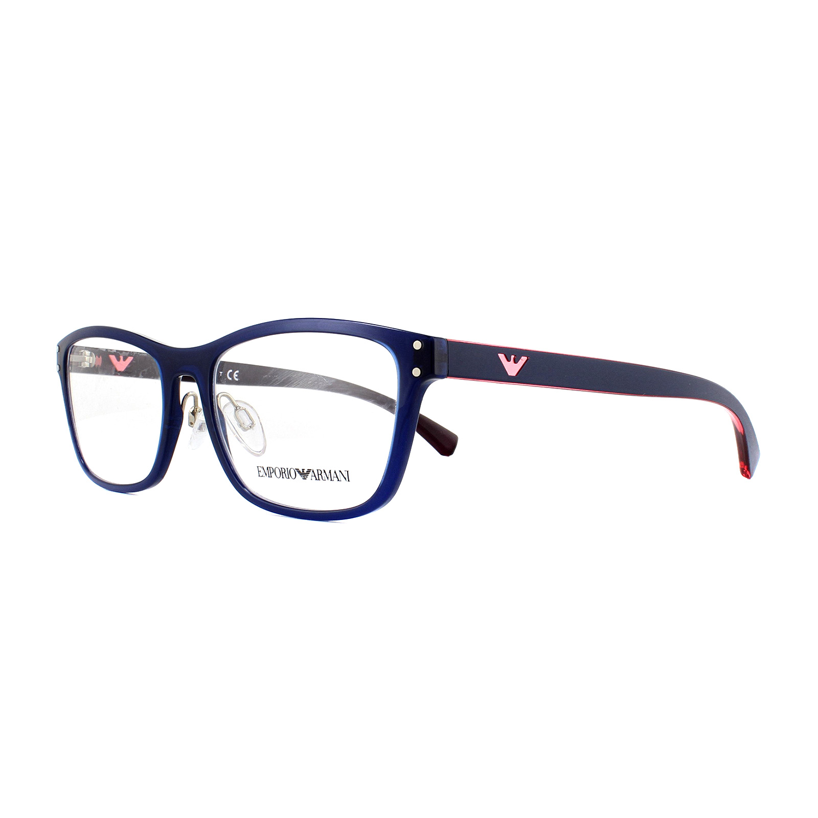 61c7ef743e Sentinel Emporio Armani Glasses Frames EA 3113 5563 Transparrent Blue 52mm  Womens